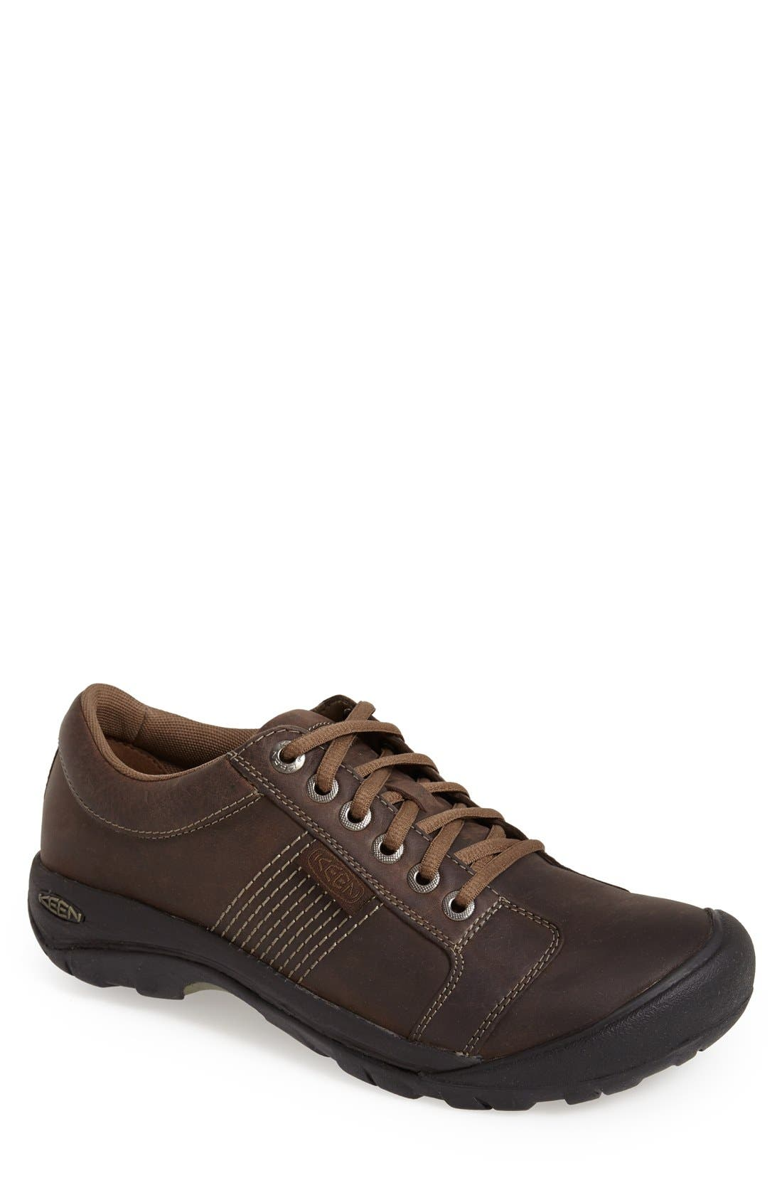 'Austin' Sneaker,                             Main thumbnail 1, color,                             CHOCOLATE BROWN