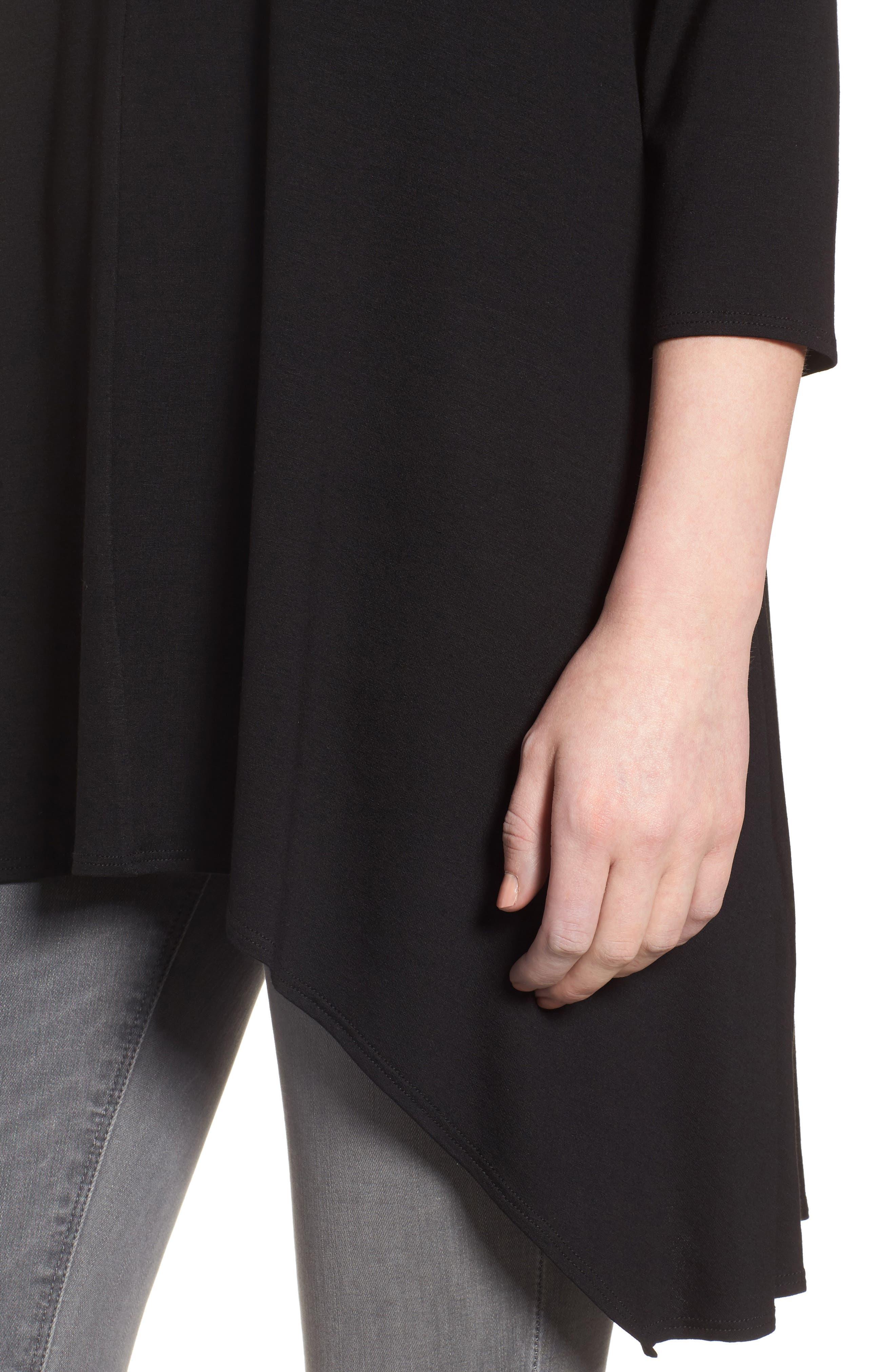 Asymmetrical Jersey Top,                             Alternate thumbnail 4, color,                             001