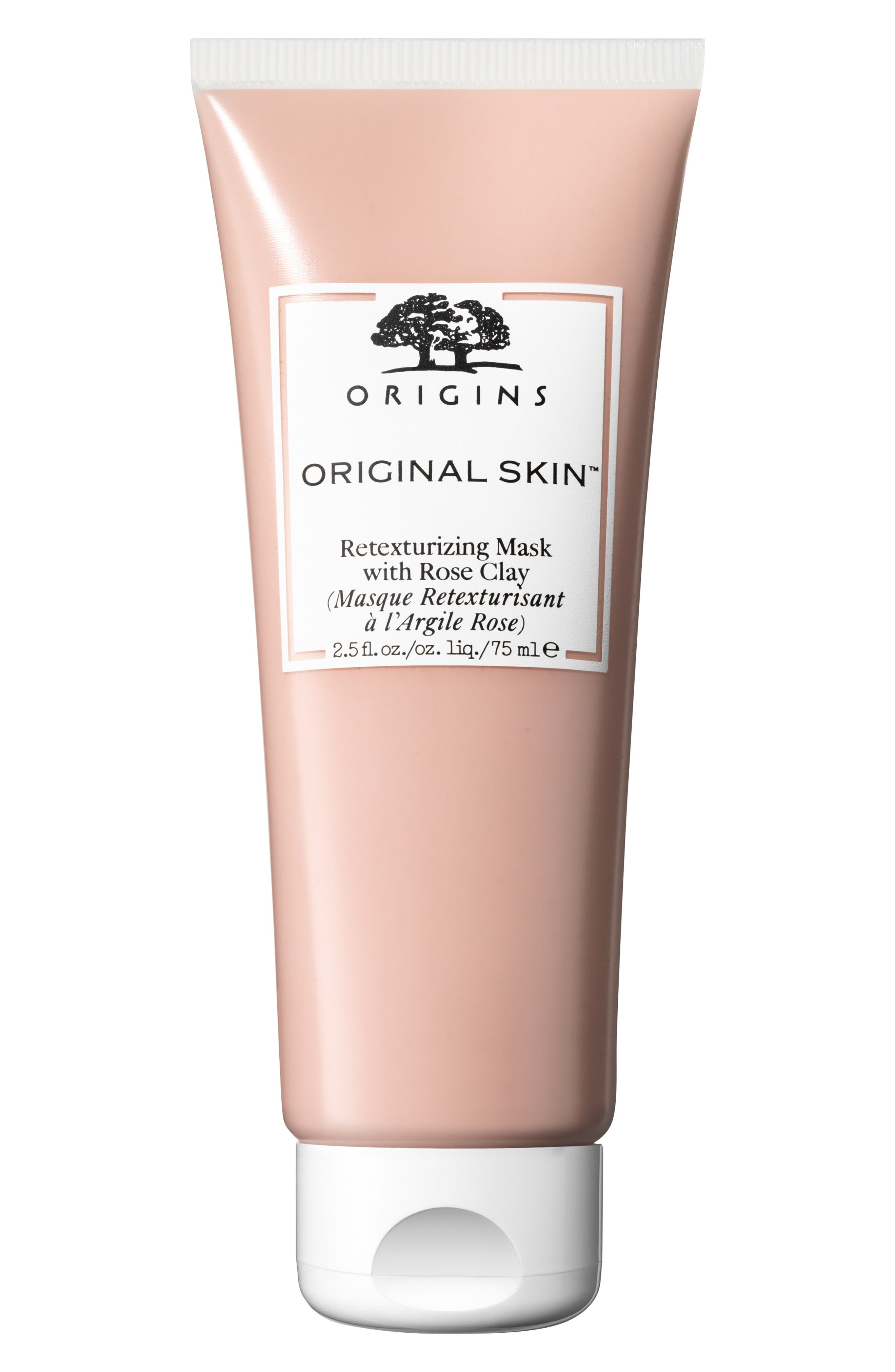ORIGINS,                             Original Skin<sup>™</sup> Retexturizing Mask with Rose Clay,                             Main thumbnail 1, color,                             NO COLOR