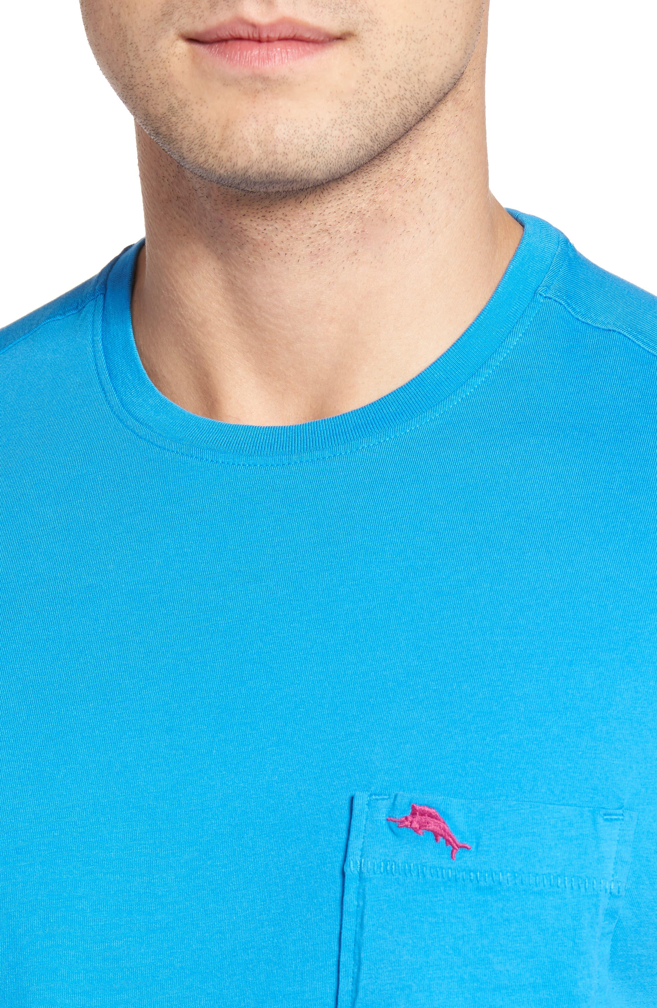 New Bali Sky Pima Cotton Pocket T-Shirt,                             Alternate thumbnail 110, color,