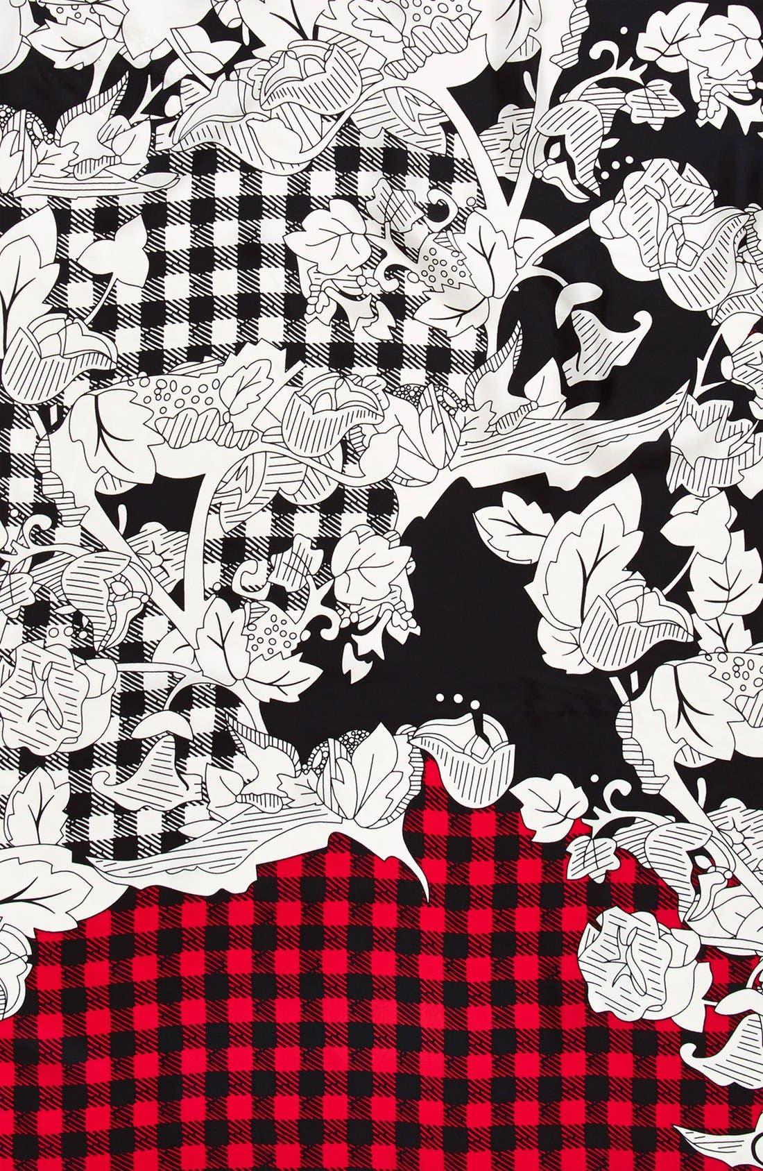 Silk Twill Square Scarf,                             Alternate thumbnail 2, color,                             001