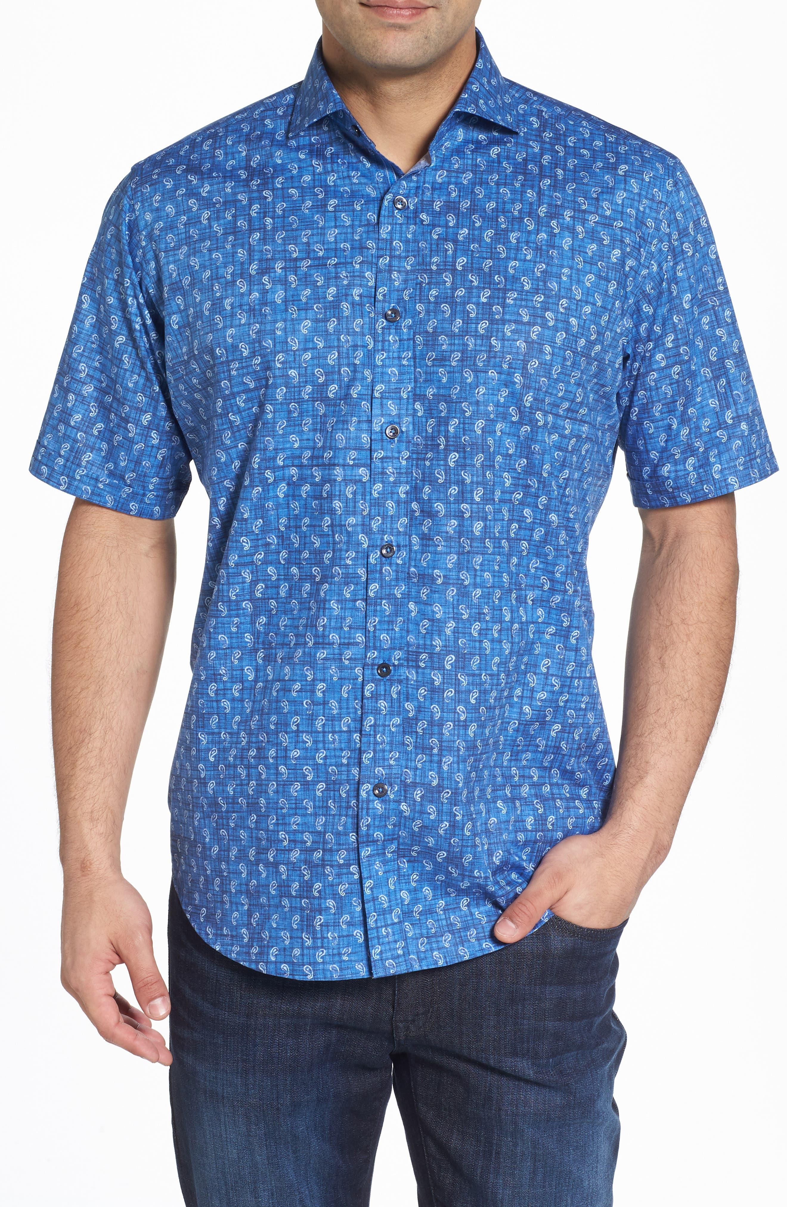 Classic Fit Paisley Sport Shirt,                         Main,                         color, 419