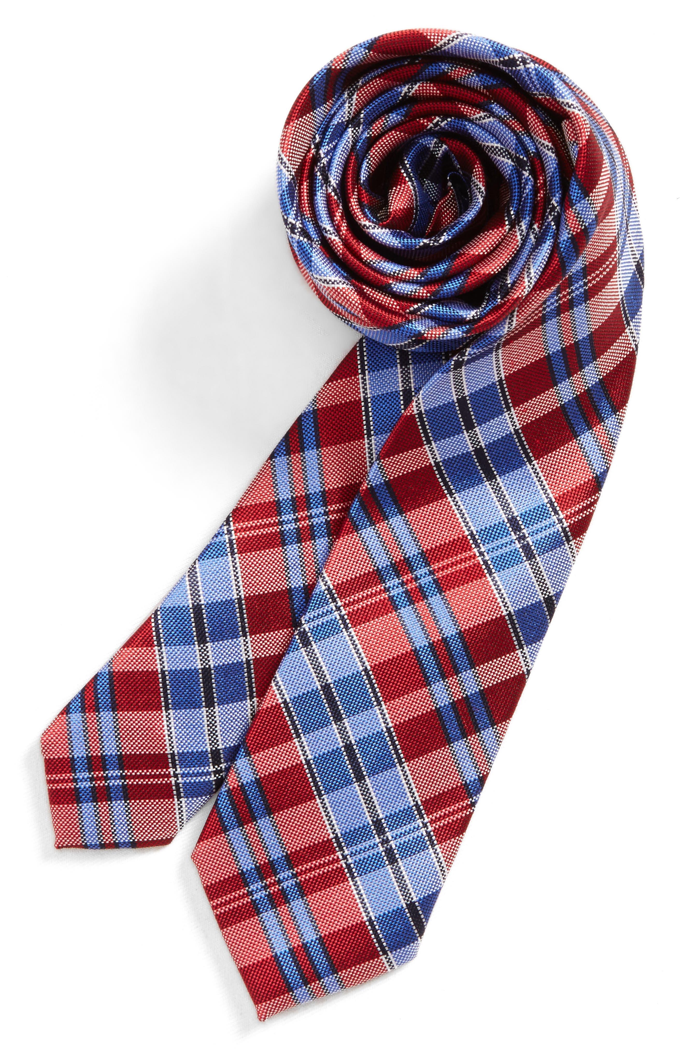 Check Silk Tie,                             Main thumbnail 8, color,