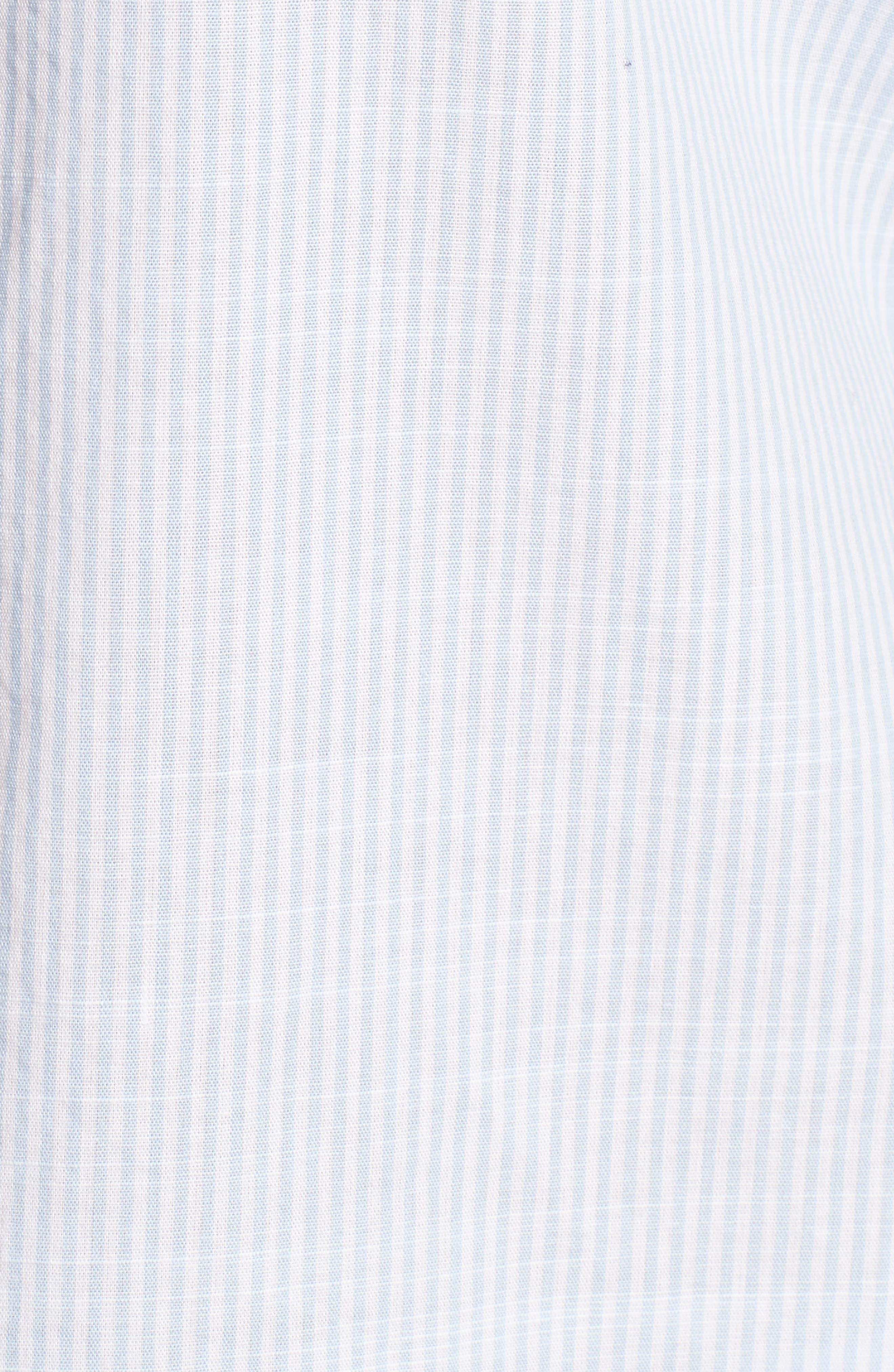 Side Laced Stripe Cotton Top,                             Alternate thumbnail 6, color,                             465