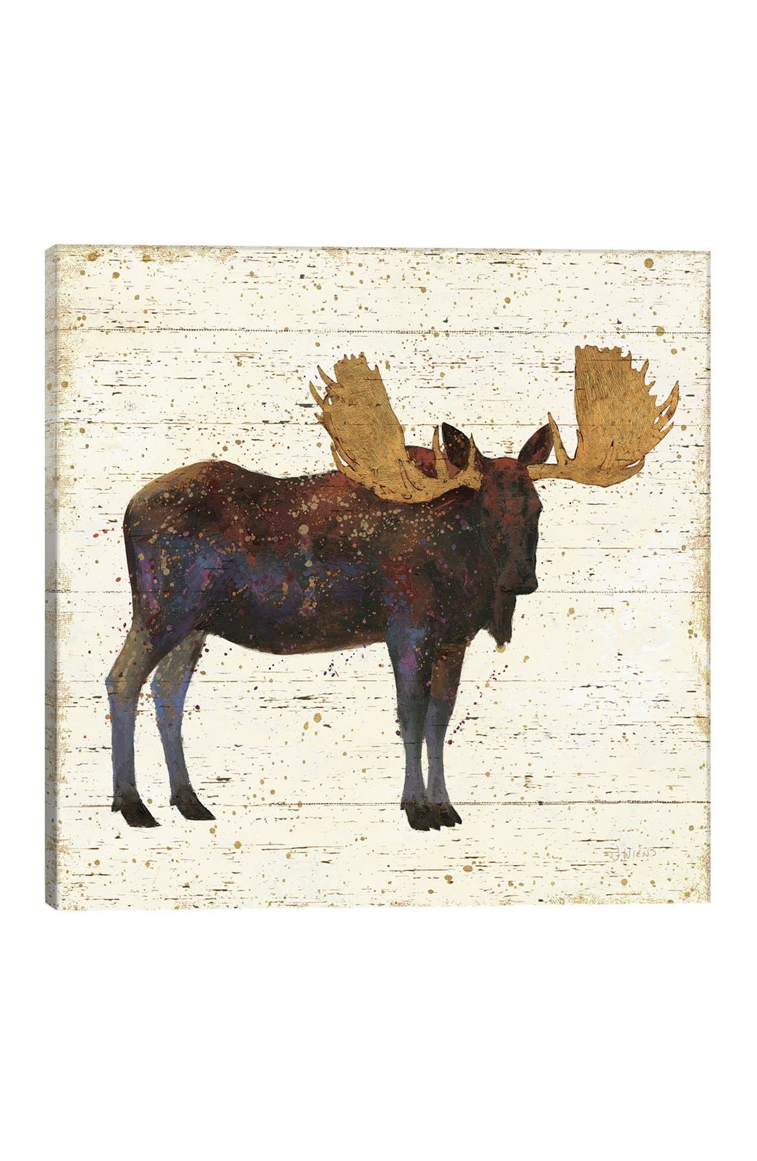 'Golden Nature' Giclée Print Canvas Art,                         Main,                         color,