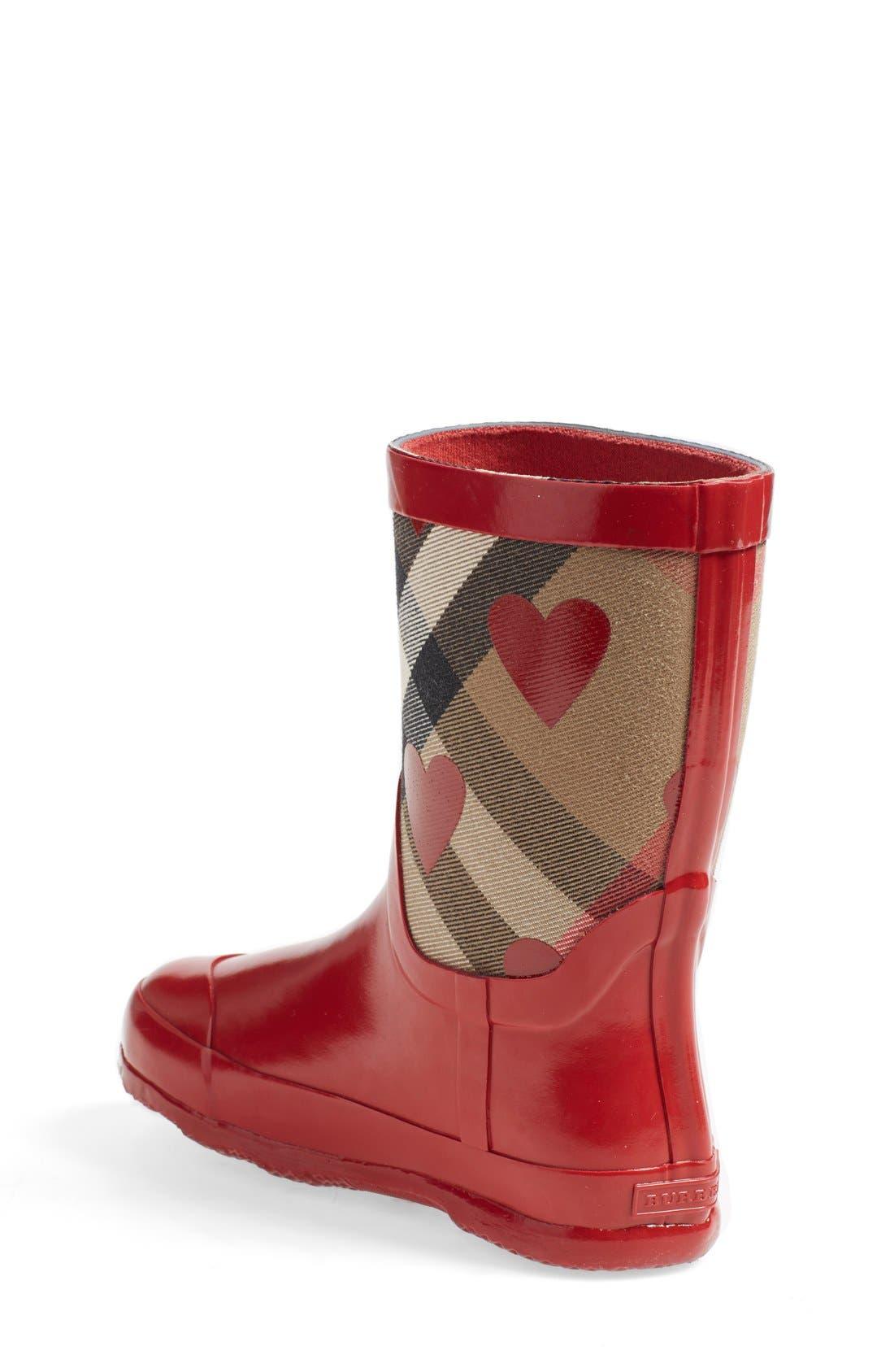 'Ranmoor' Heart Print Rain Boot,                             Alternate thumbnail 2, color,                             608