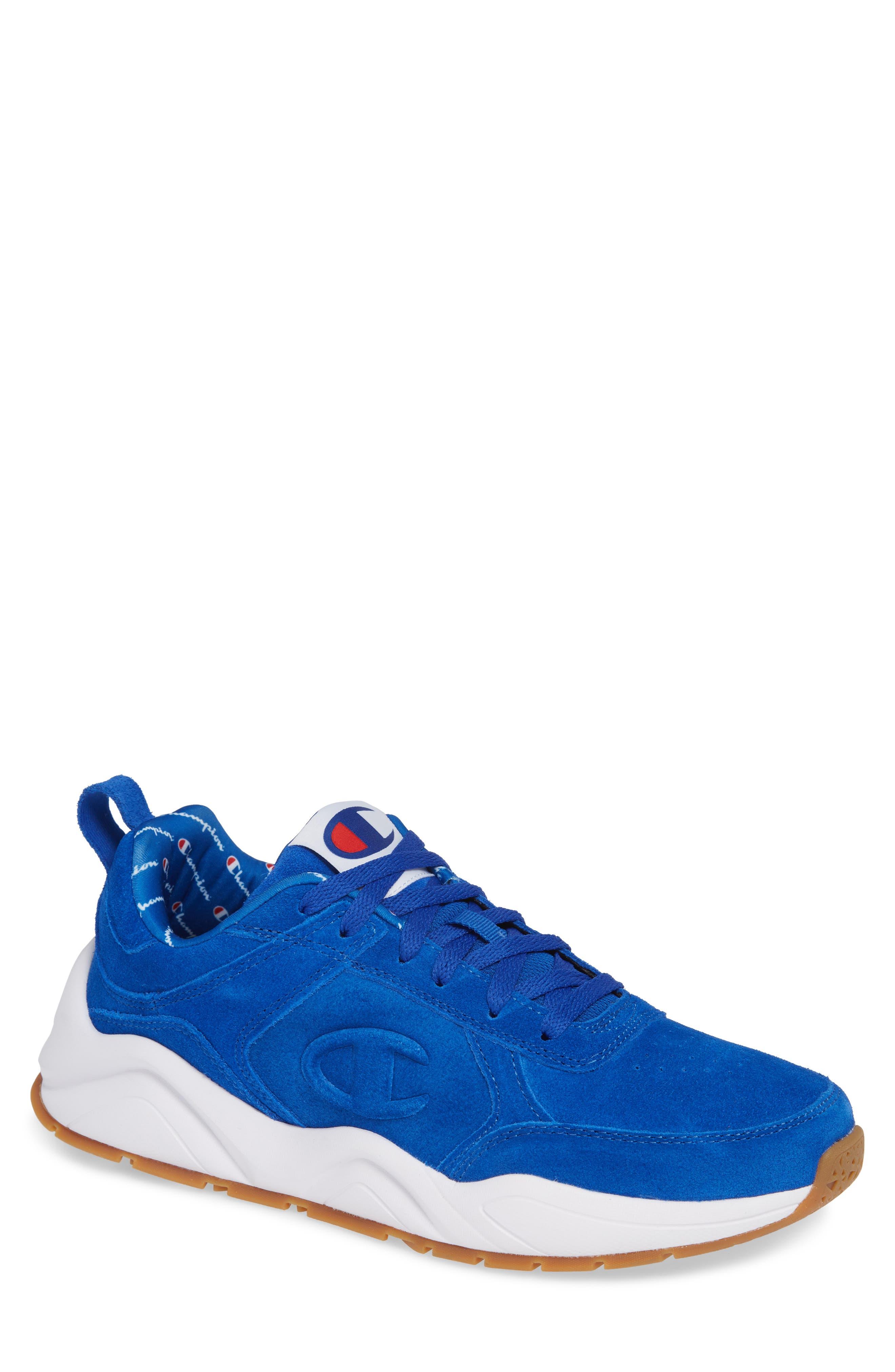 93Eighteen Sneaker,                             Main thumbnail 1, color,                             BLUE SUEDE