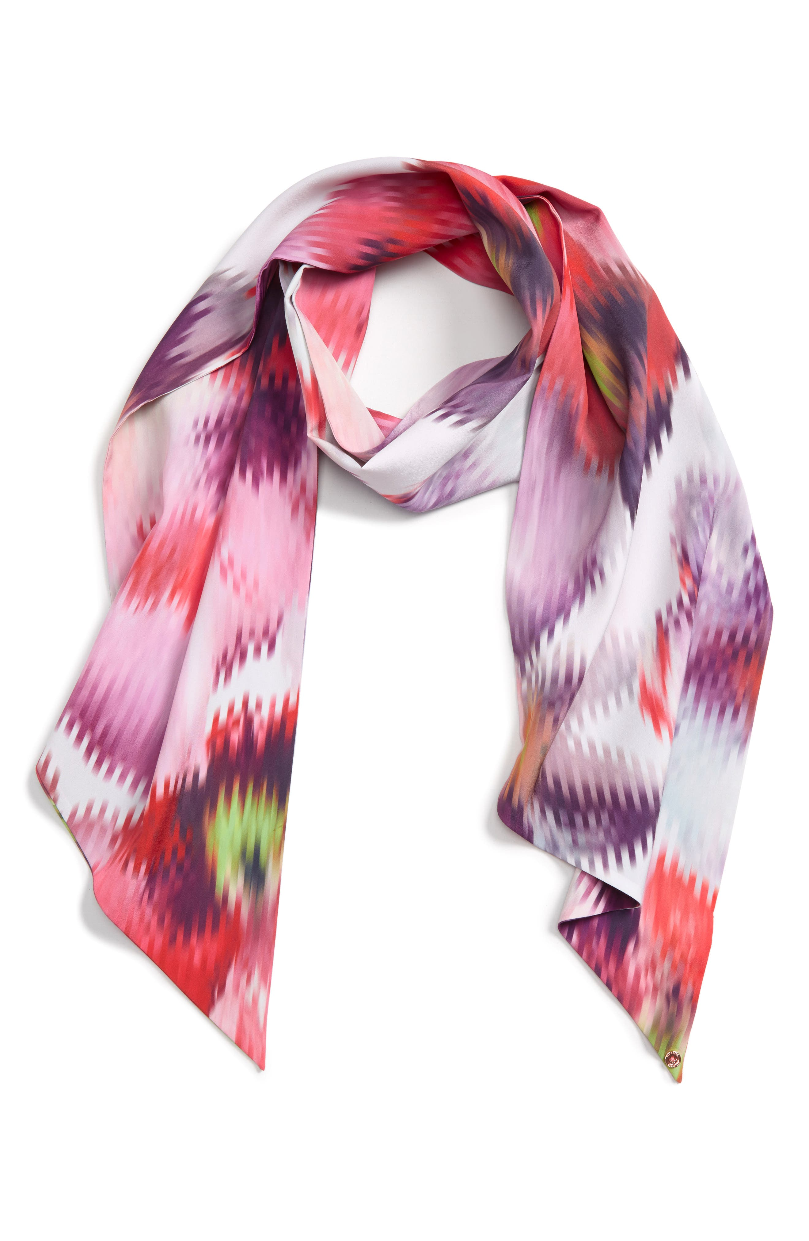 Evonna Expressive Pansy Skinny Scarf,                             Main thumbnail 1, color,                             050