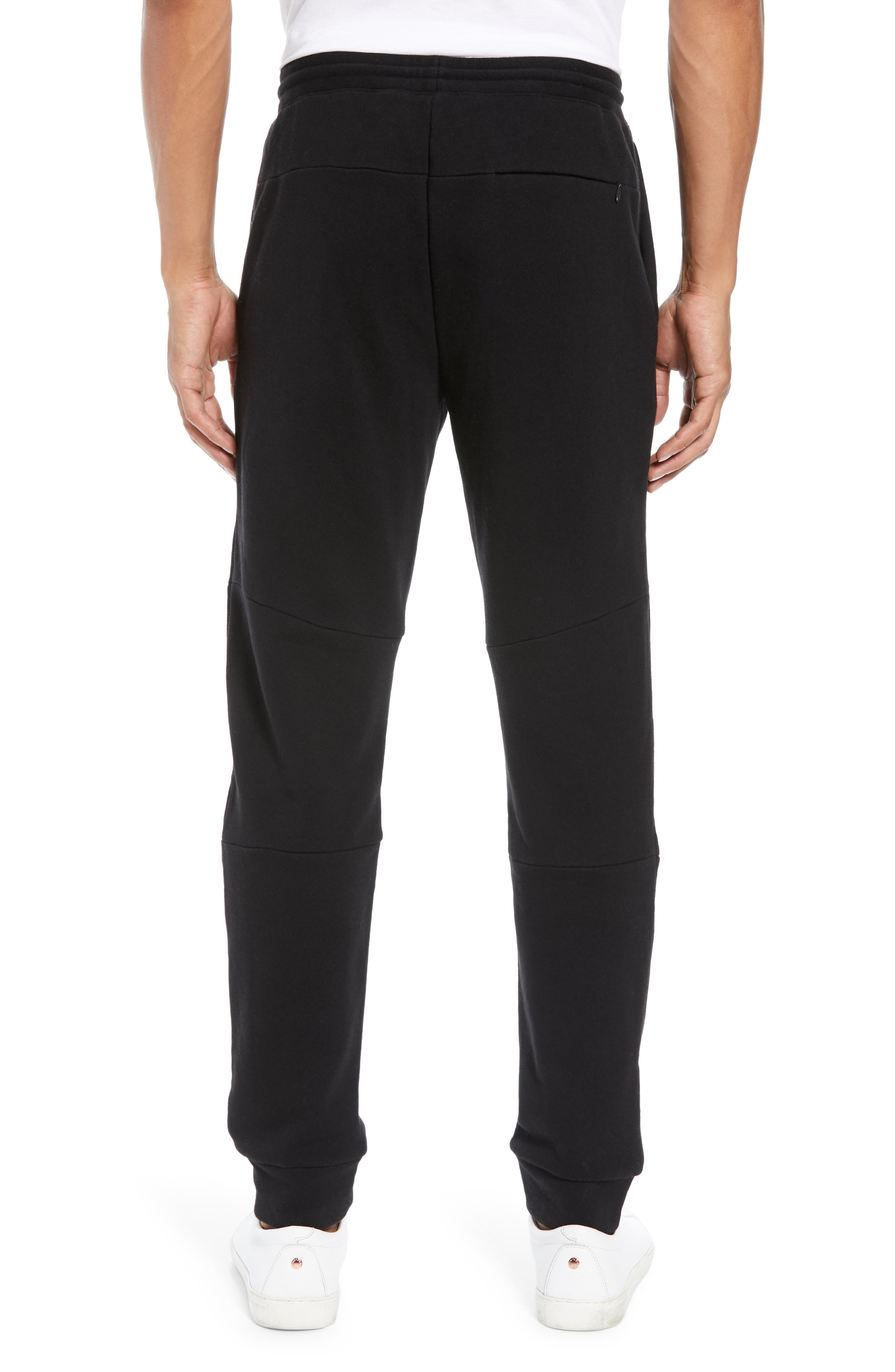 CLUB MONACO,                             Articulated Seam Jogger Pants,                             Alternate thumbnail 2, color,                             001