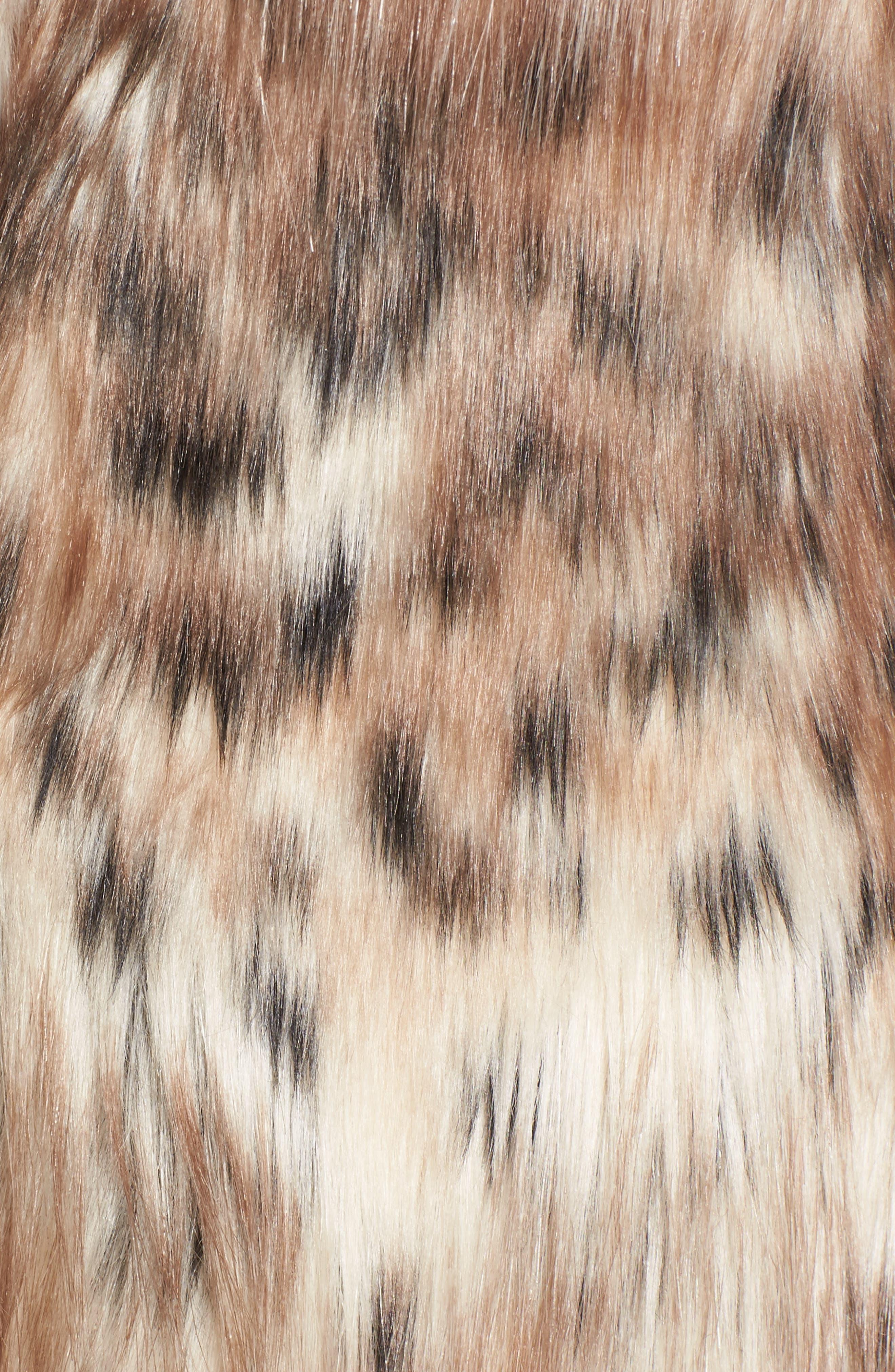 Stella Faux Fur Coat,                             Alternate thumbnail 5, color,                             250