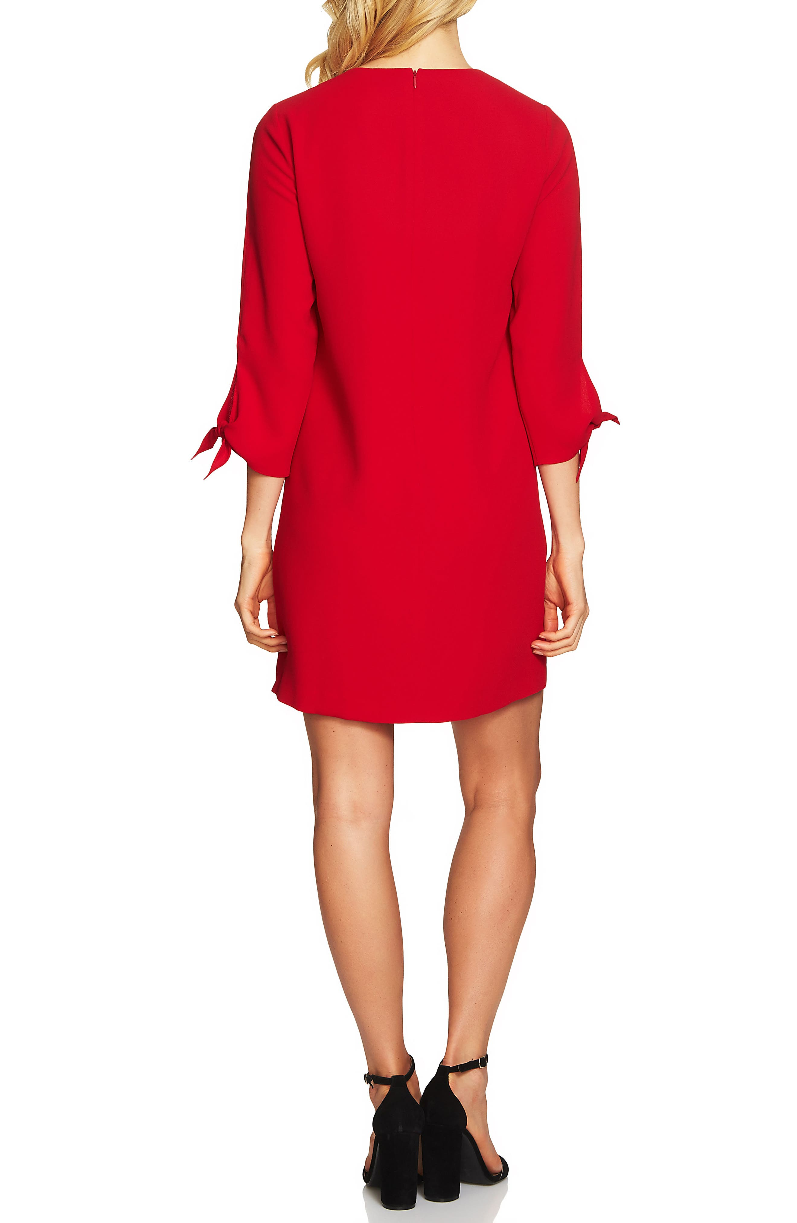 Tie Sleeve Shift Dress,                             Alternate thumbnail 2, color,                             600
