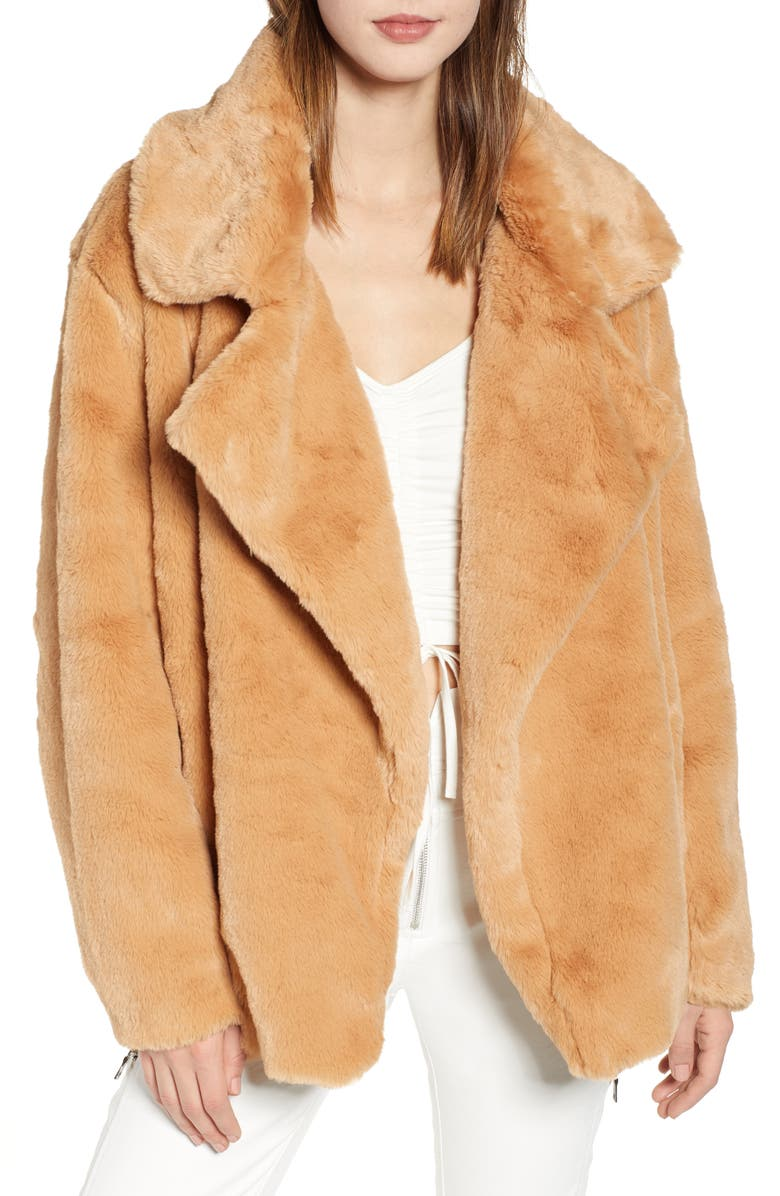 Fawkner Faux Fur Jacket,                         Main,                         color, TAN