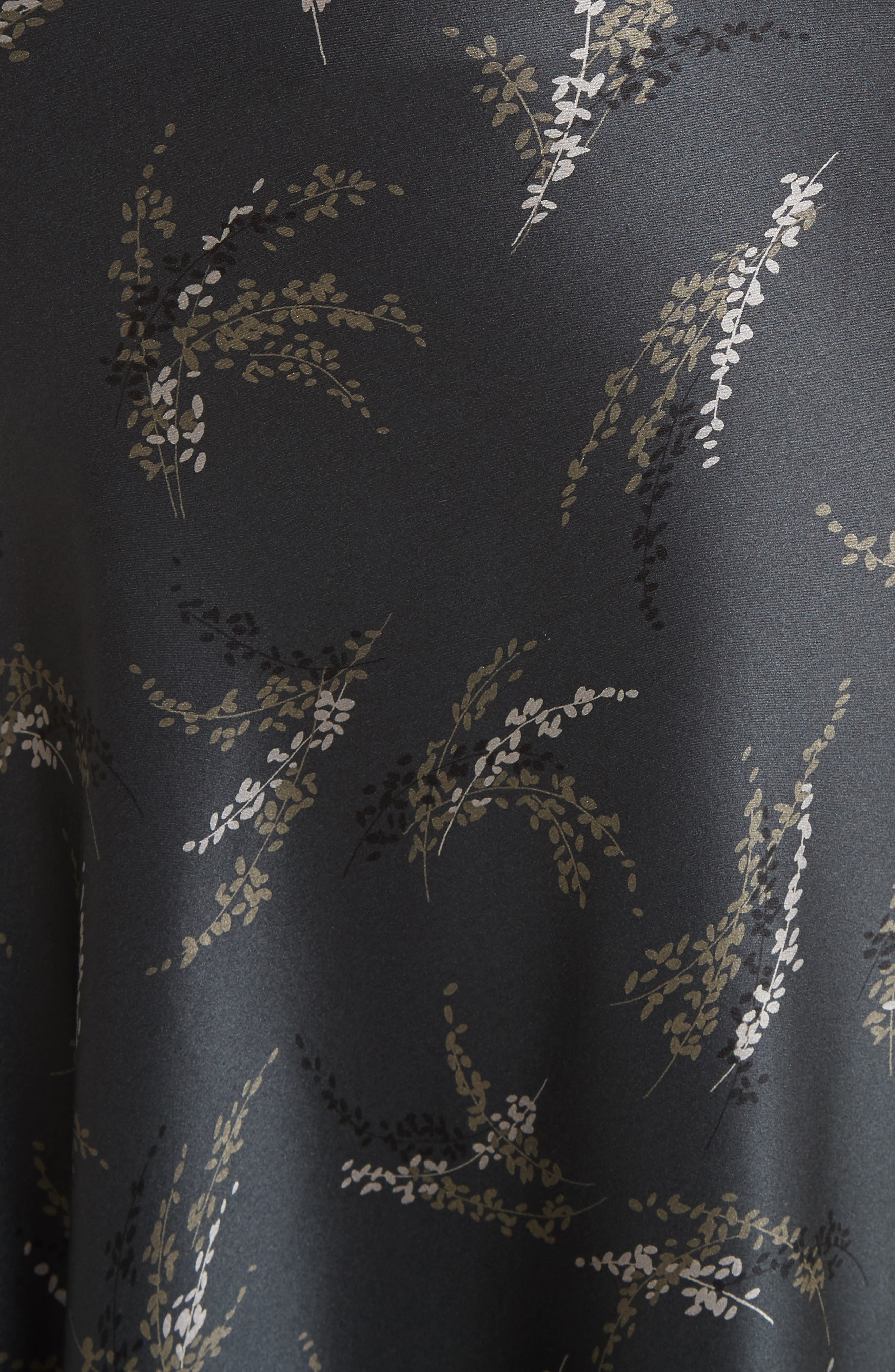 Spring Floral Pull-On Silk Midi Skirt,                             Alternate thumbnail 5, color,                             021