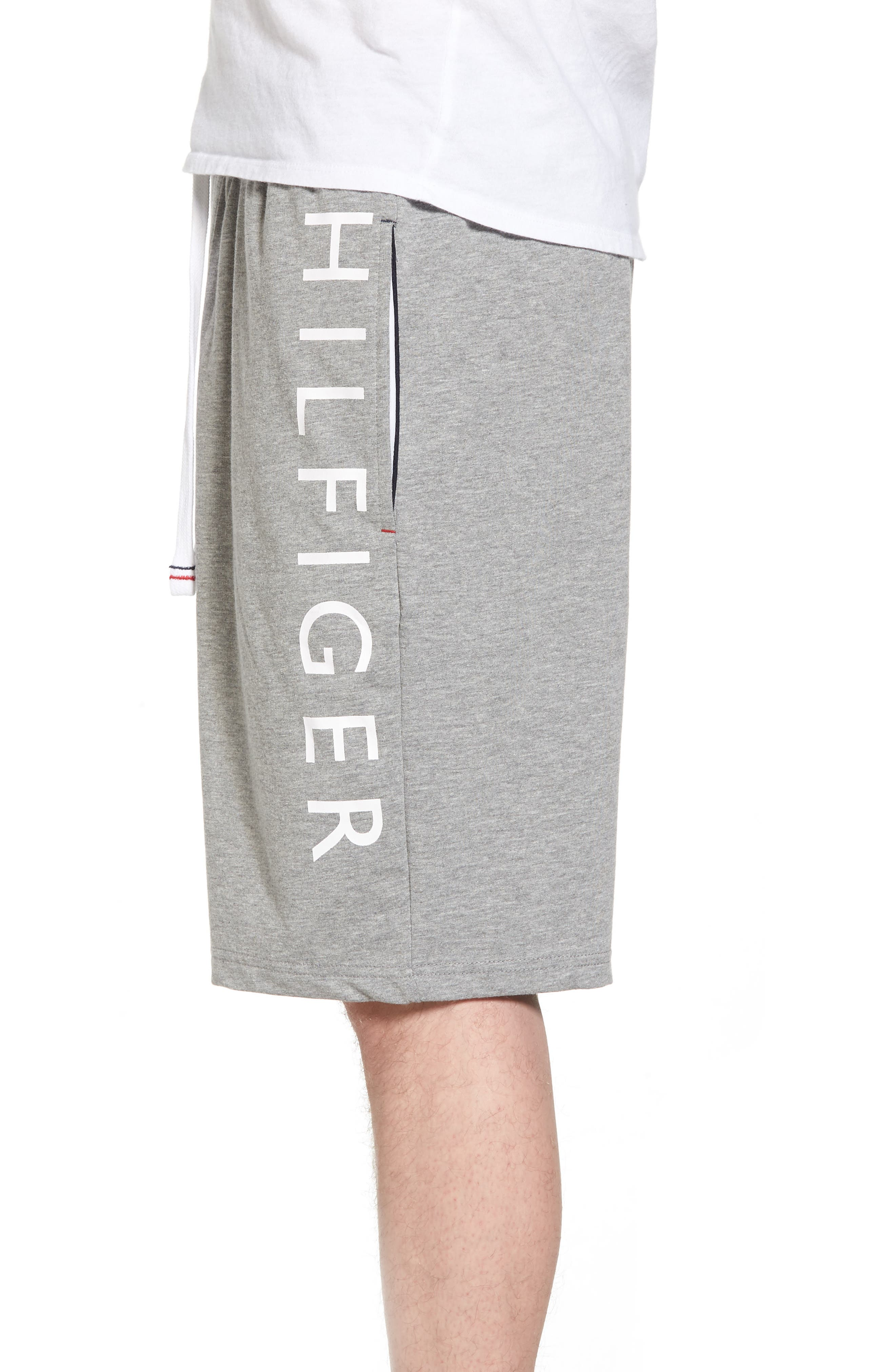 TOMMY HILFIGER,                             Lounge Shorts,                             Alternate thumbnail 3, color,                             GREY HEATHER