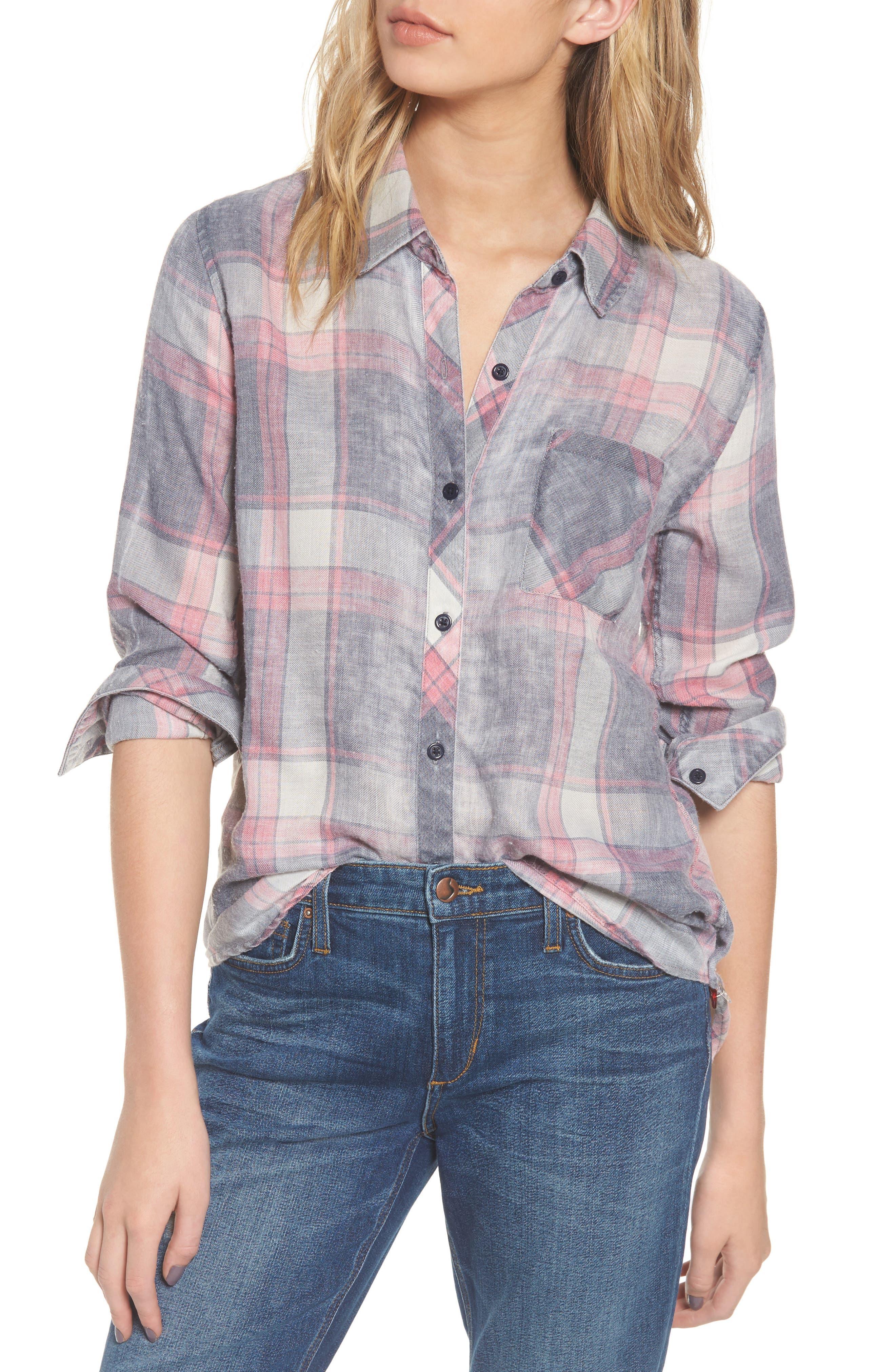 Hunter Plaid Shirt,                             Main thumbnail 91, color,
