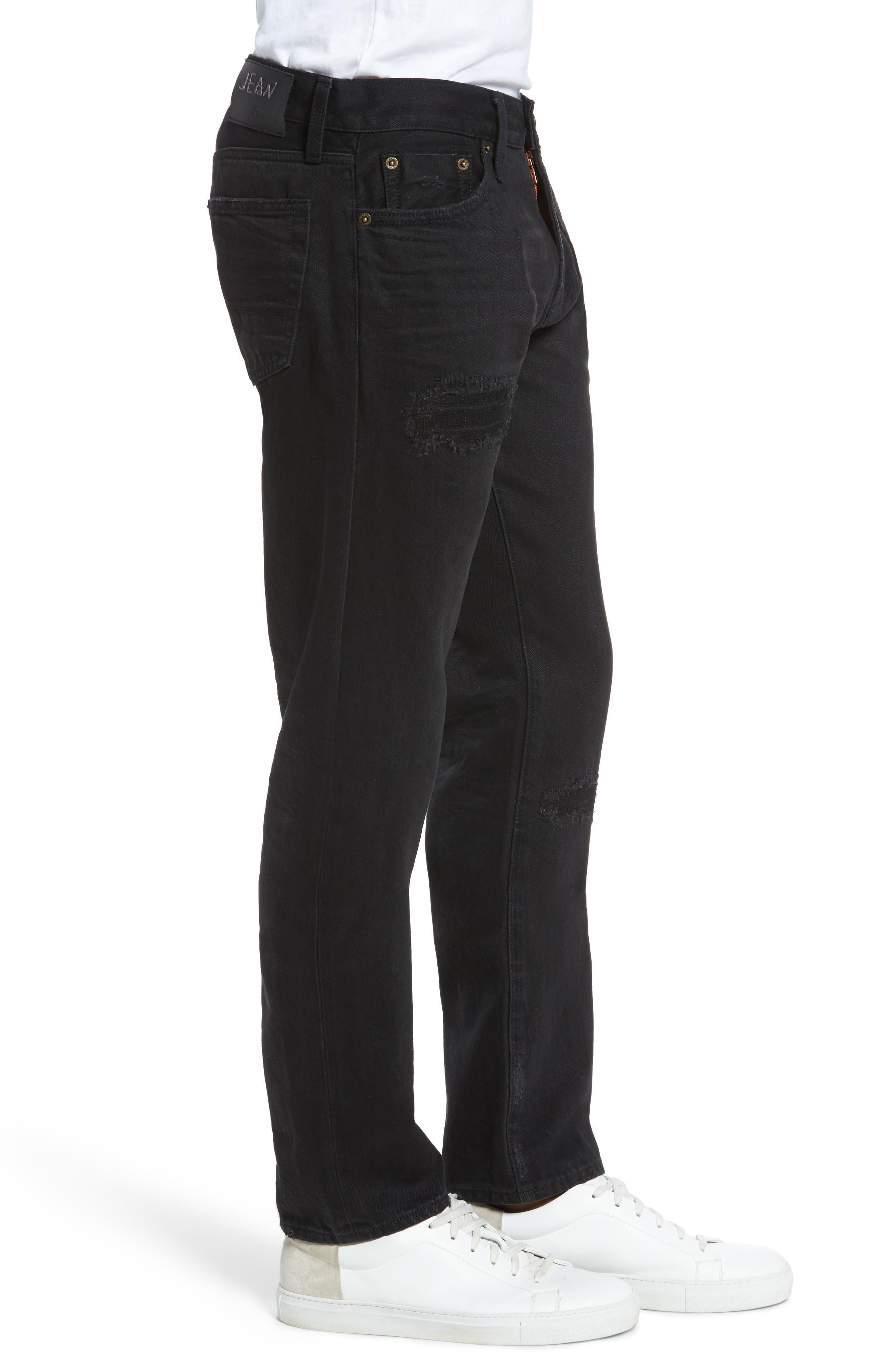 Straight Leg Selvedge Jeans,                             Alternate thumbnail 3, color,