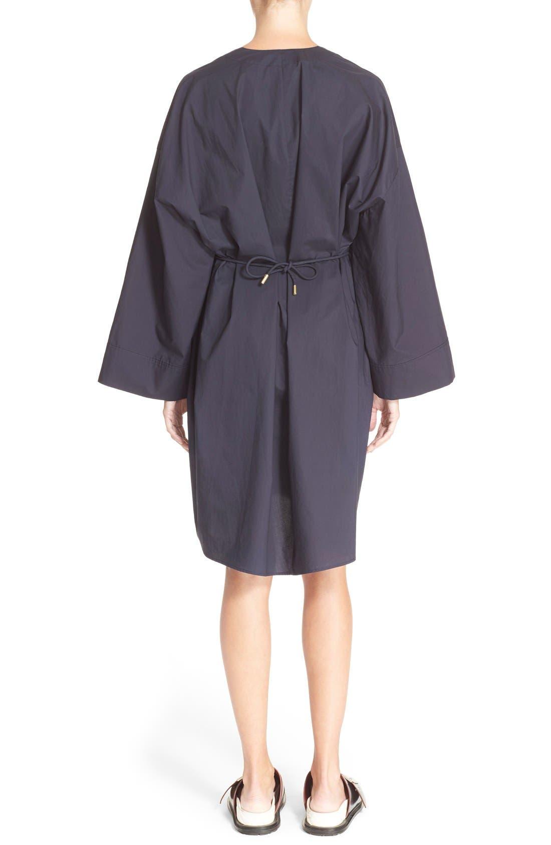 Calida Cotton Drawstring Dress,                             Alternate thumbnail 3, color,                             001