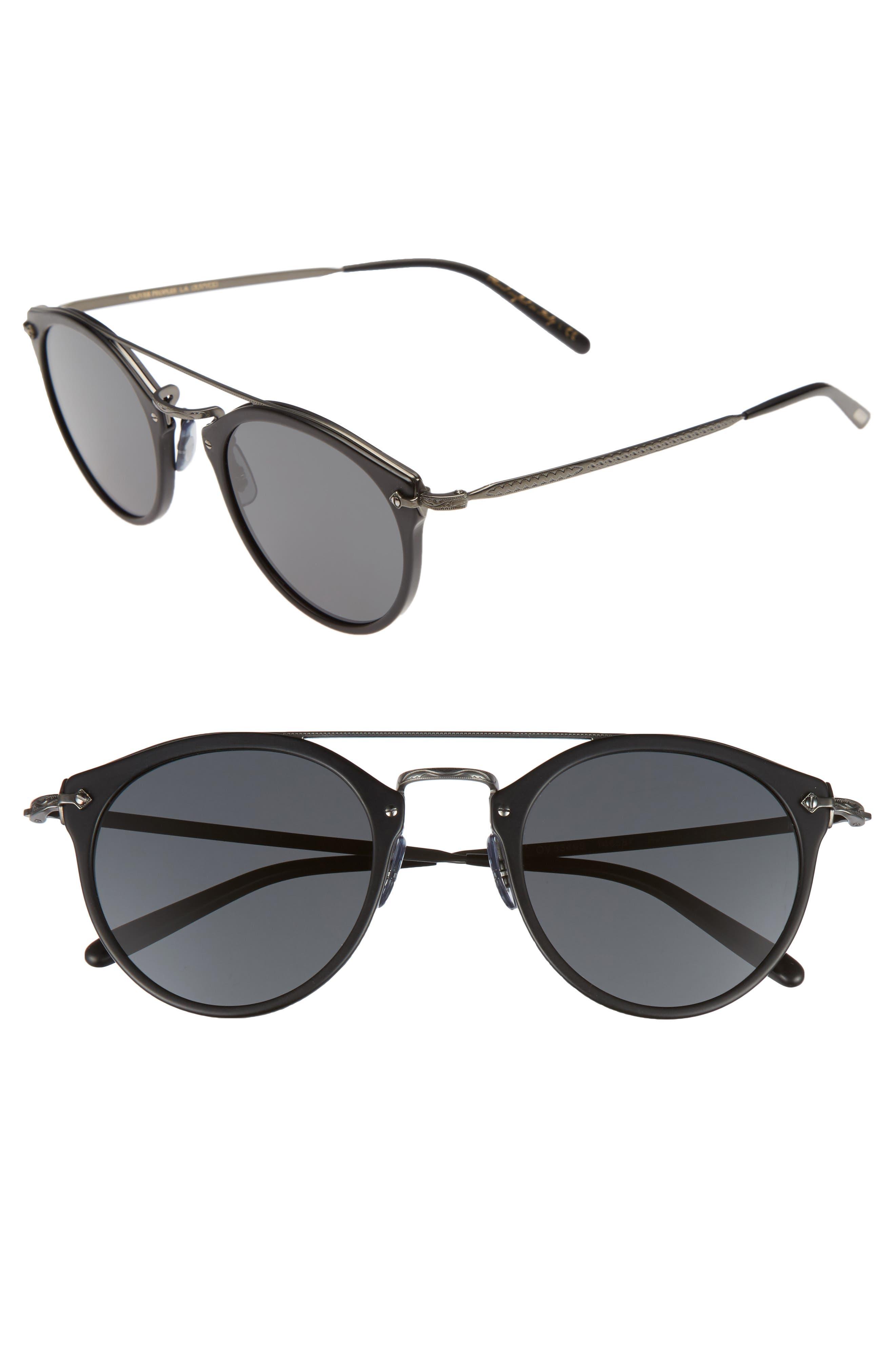Remick 50mm Sunglasses,                         Main,                         color, 001
