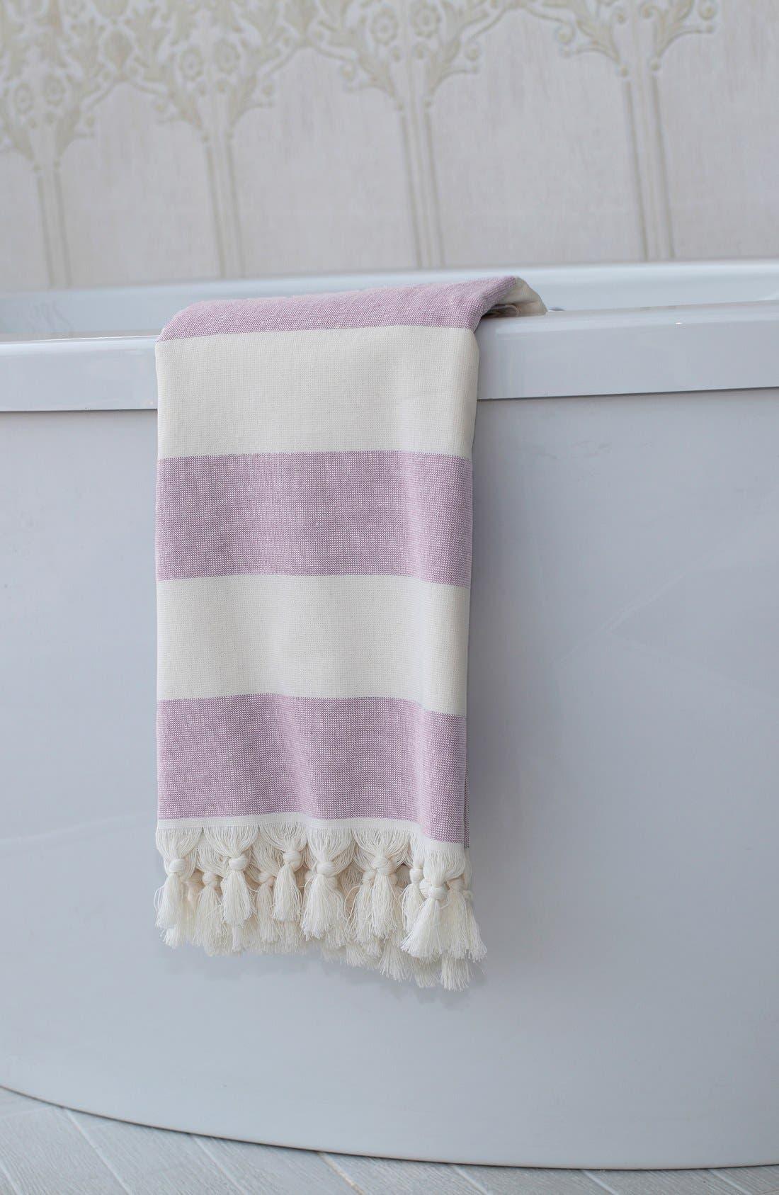 'Patara' Turkish Pestemal Towel,                             Alternate thumbnail 6, color,                             ROYAL BLUE