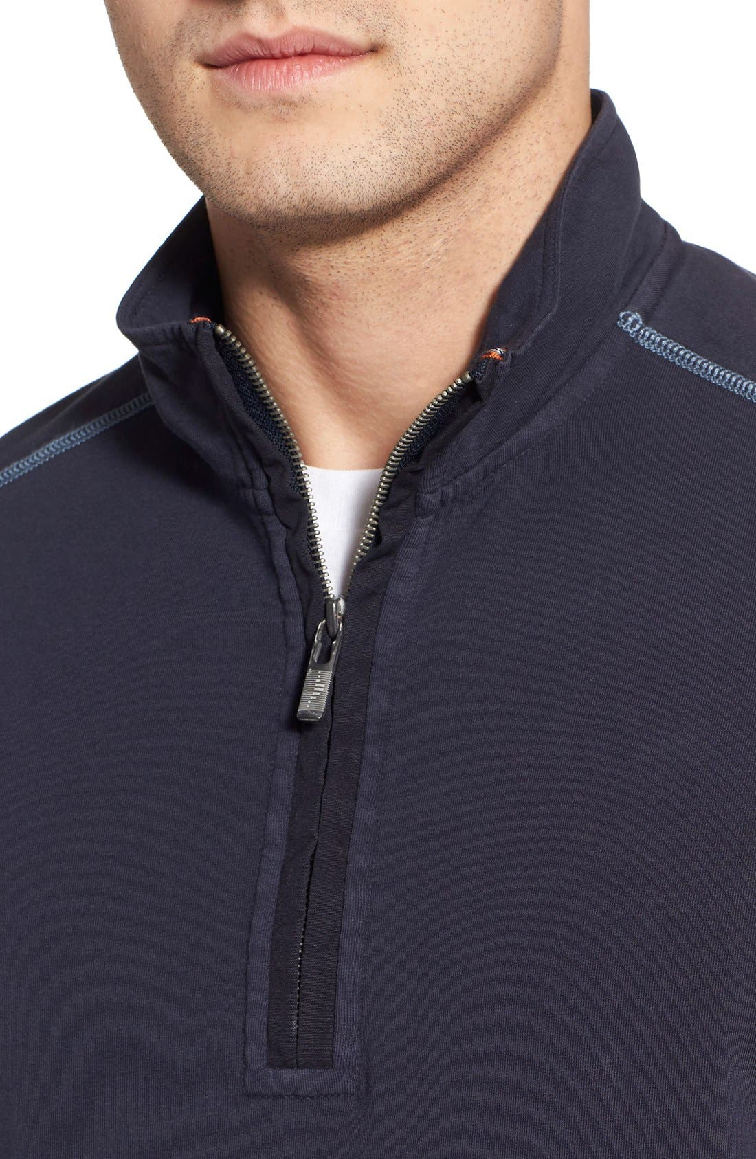 TOMMY BAHAMA,                             'Ben & Terry' Half Zip Pullover,                             Alternate thumbnail 2, color,                             001