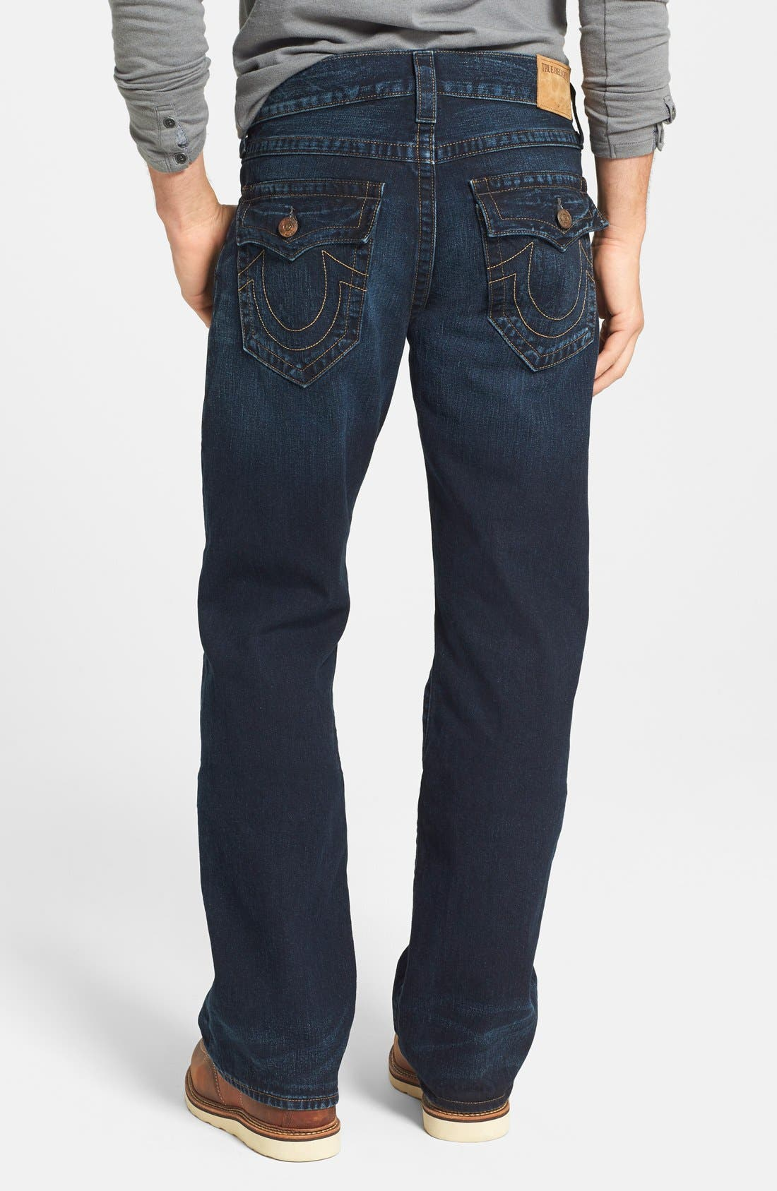 'Billy - Flap Core' Bootcut Jeans,                             Main thumbnail 1, color,                             400