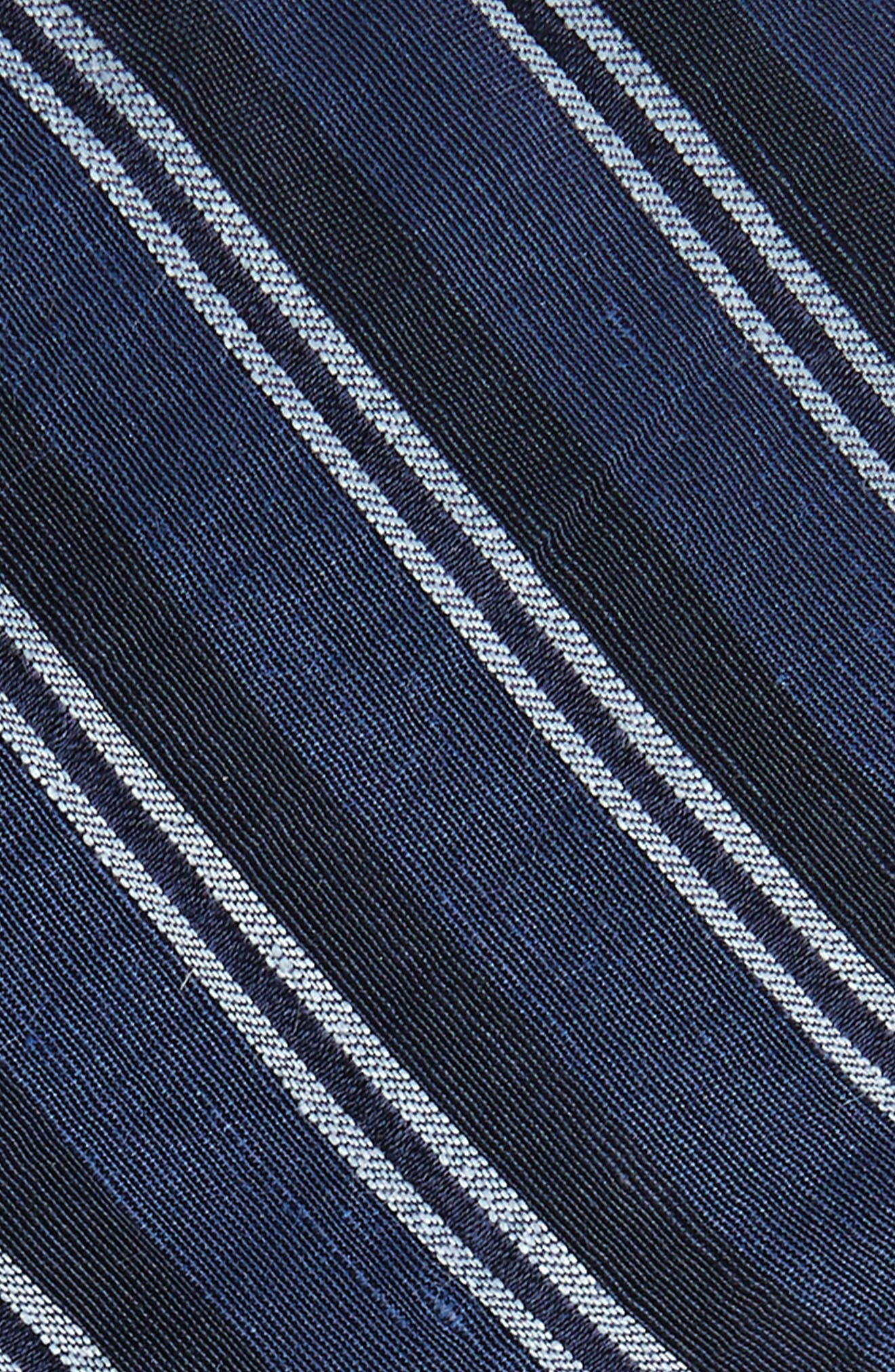 Stripe Linen & Silk Tie,                             Alternate thumbnail 2, color,