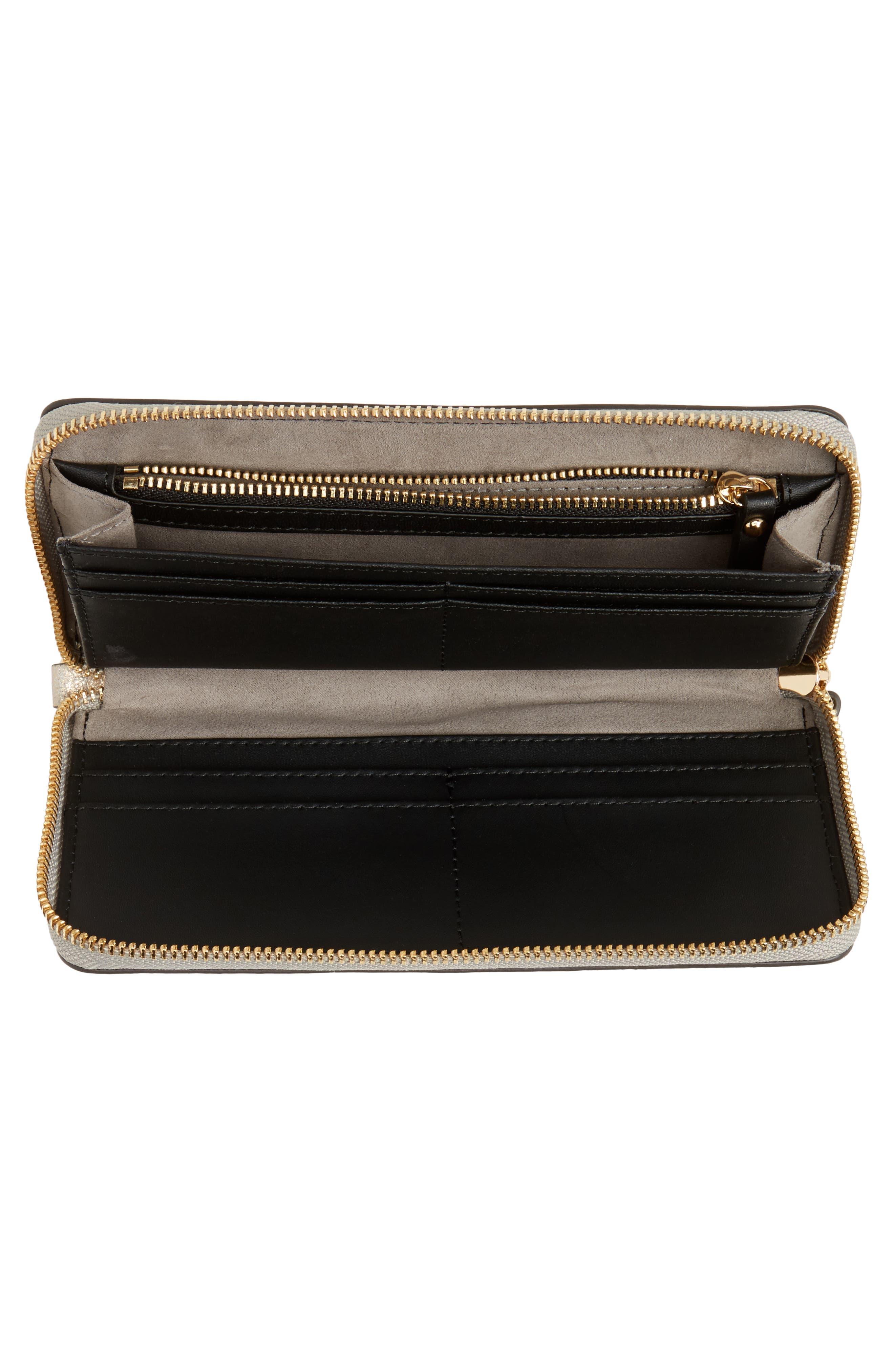 Taz Leather Zip Around Wallet,                             Alternate thumbnail 4, color,                             250