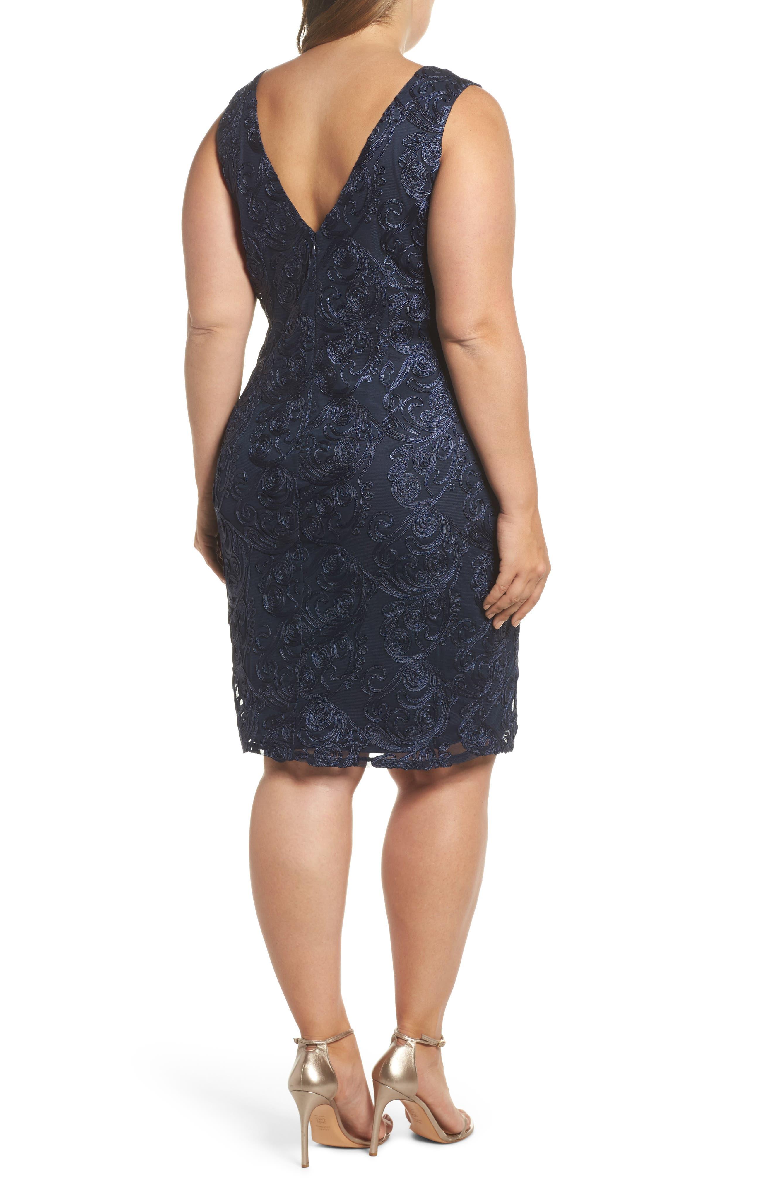 Soutache Sheath Dress,                             Alternate thumbnail 2, color,                             400