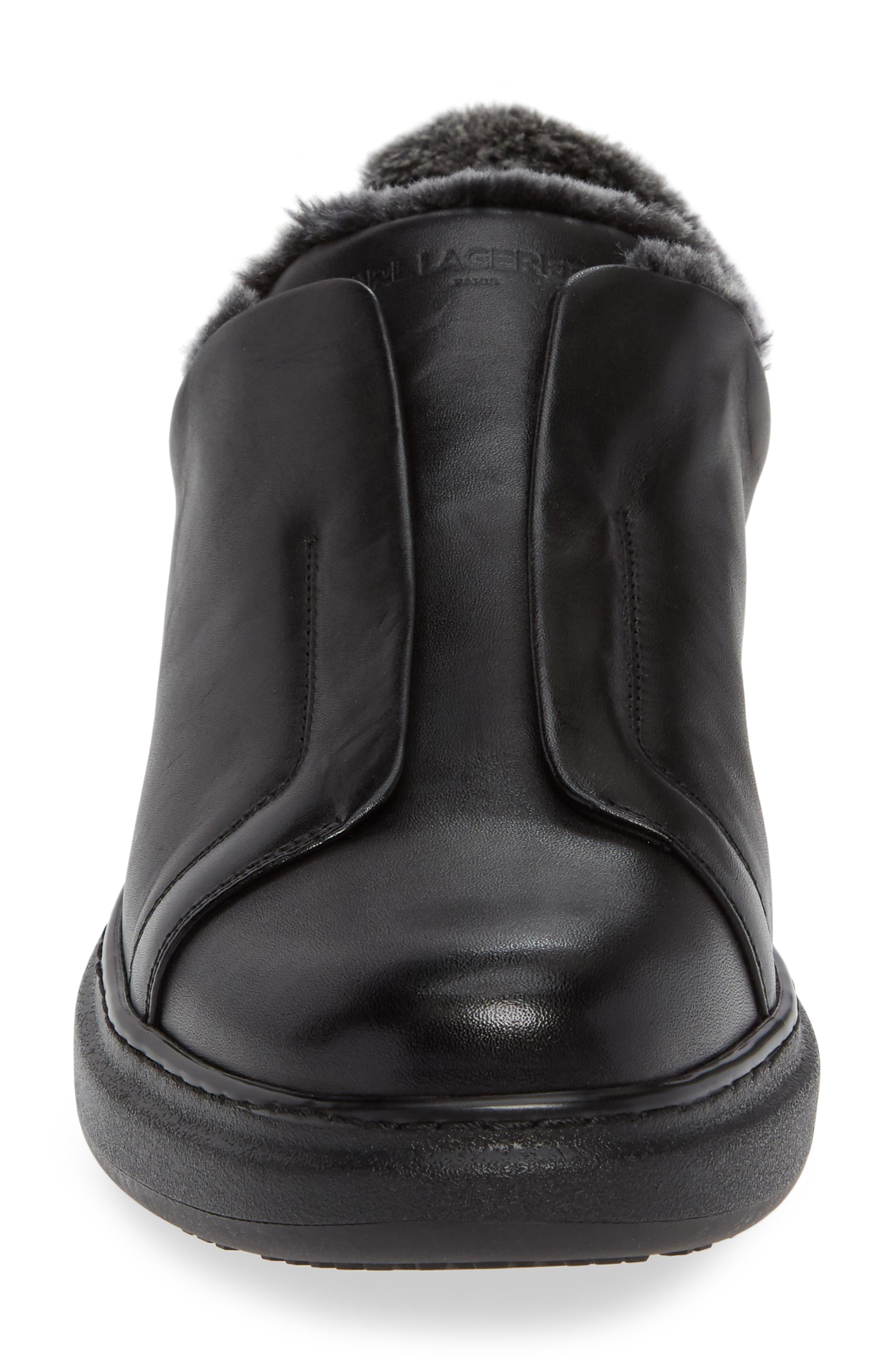 Laceless Sneaker,                             Alternate thumbnail 4, color,                             BLACK