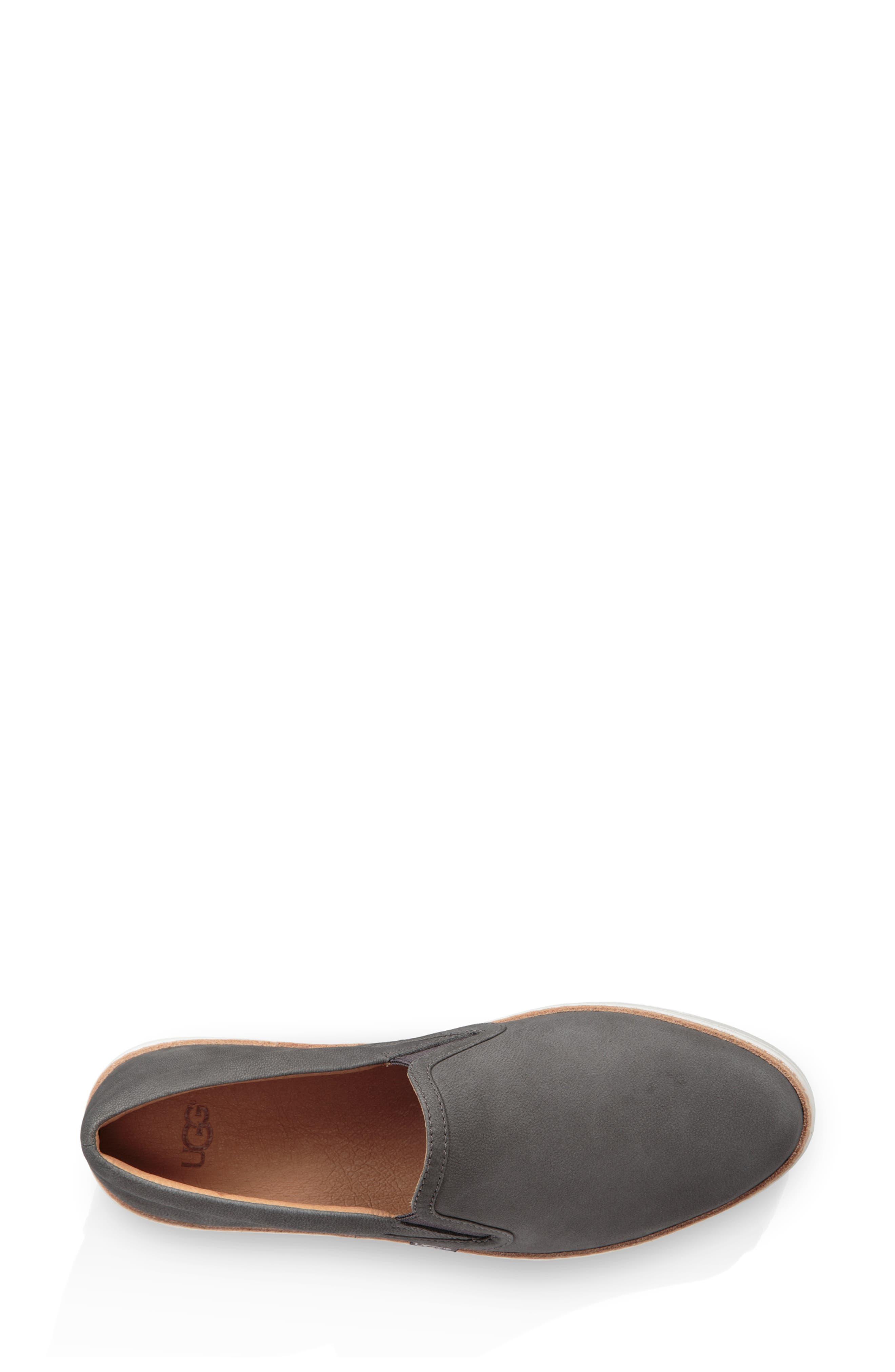 Soleda Slip-On Sneaker,                             Alternate thumbnail 4, color,                             CHARCOAL LEATHER