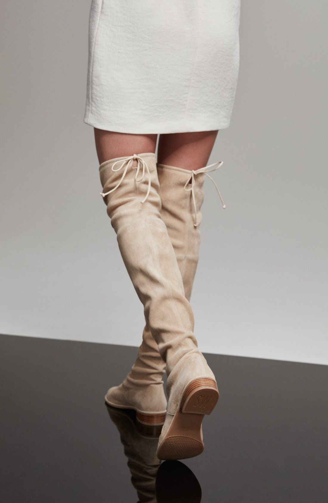 'Lowland' Over the Knee Boot,                             Alternate thumbnail 7, color,                             ASPHALT SUEDE