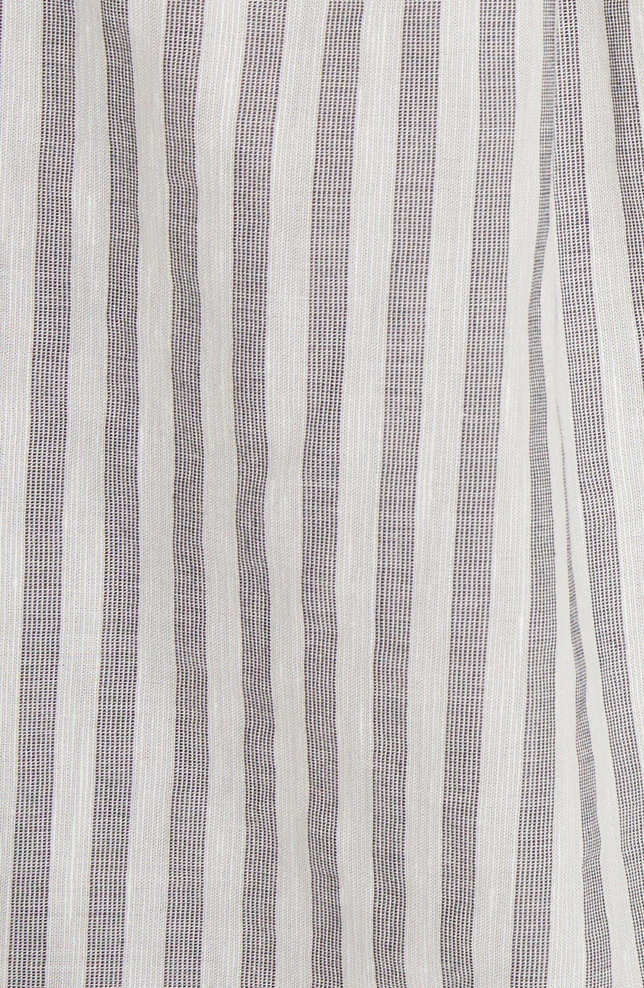 Eyelet Trim Stripe Top,                             Alternate thumbnail 5, color,                             188