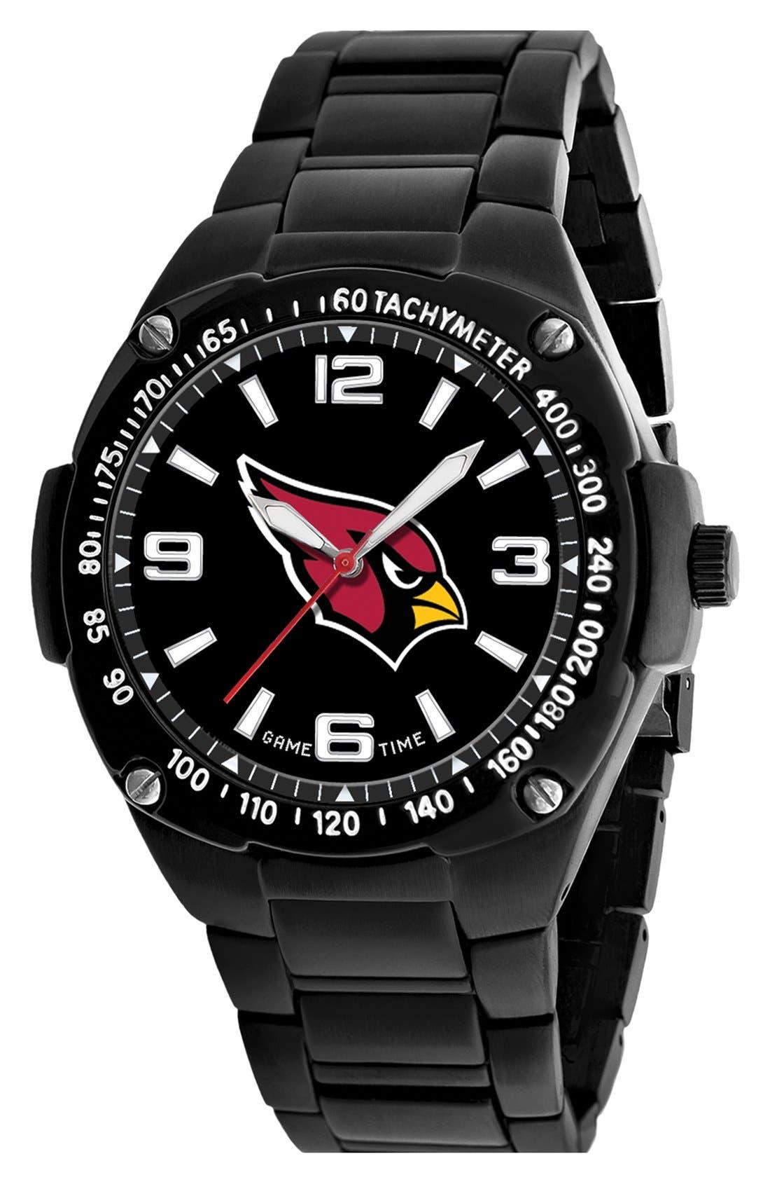 'NFL Gladiator - New England Patriots' Bracelet Watch, 49mm, Main, color, 001