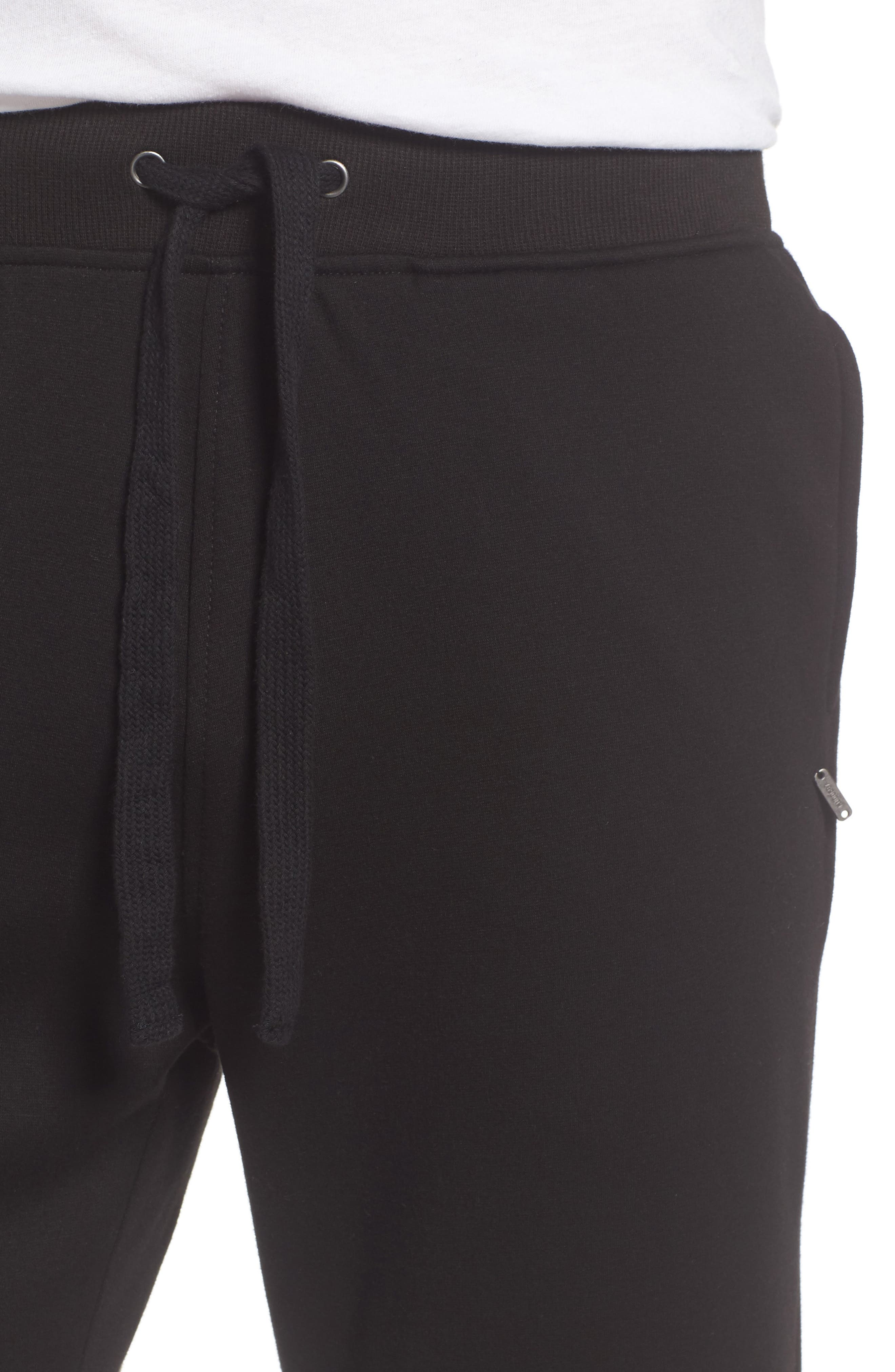 Wyatt Lounge Pants,                             Alternate thumbnail 4, color,                             BLACK