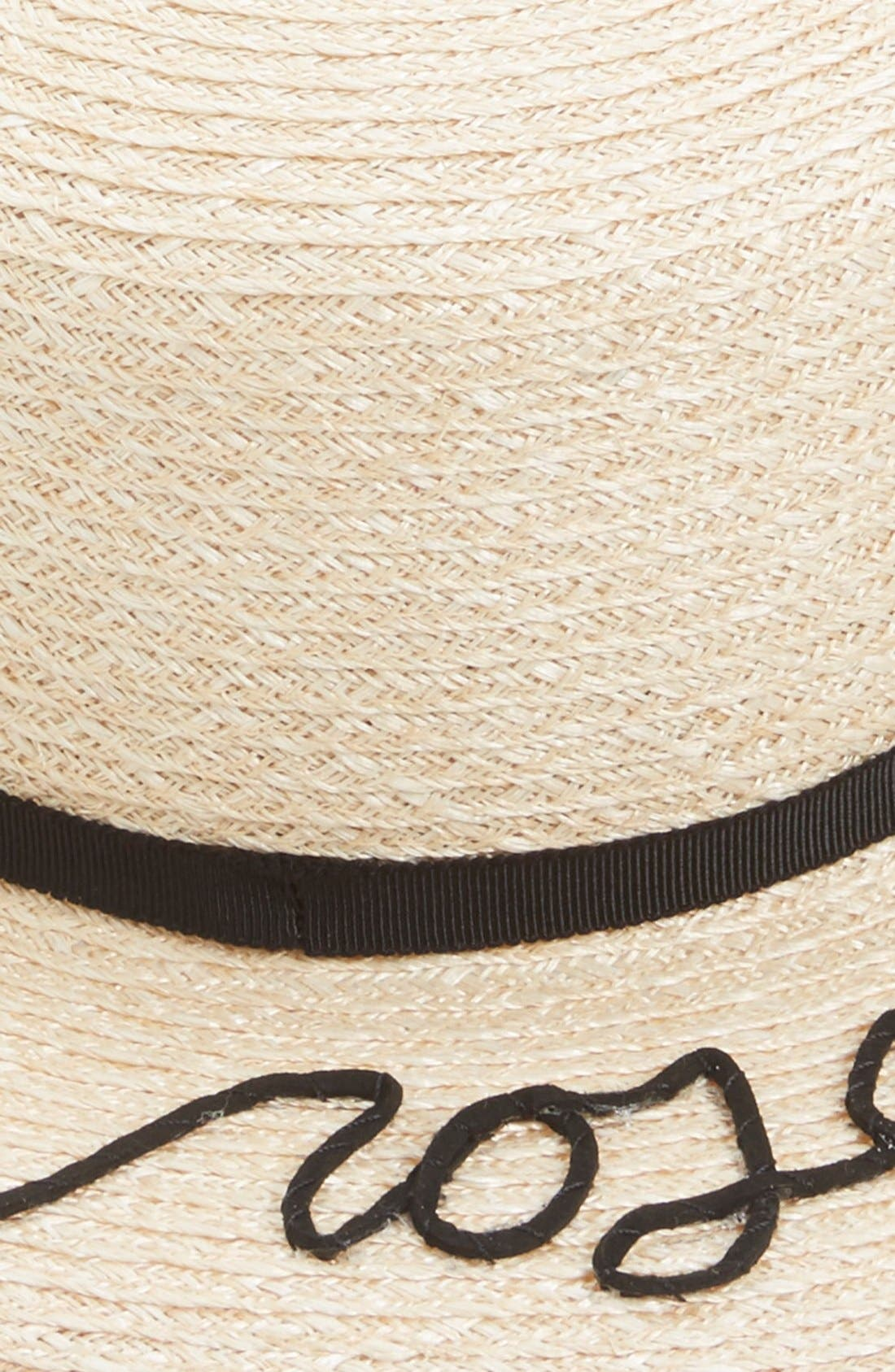 'Brigitte - A Rose is a Rose is a Rose' Hemp & Cotton Boater Hat,                             Alternate thumbnail 2, color,                             250