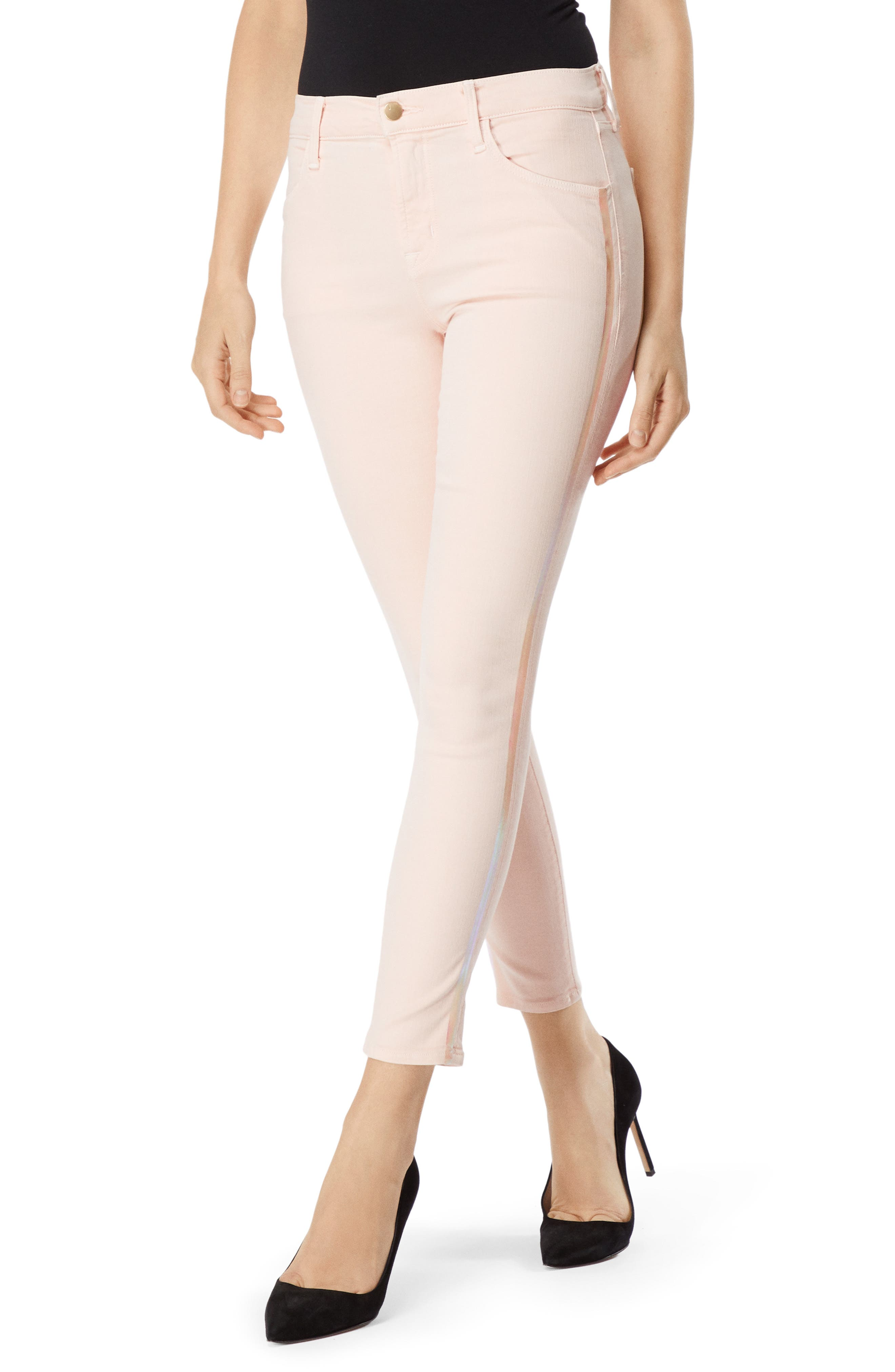 Alana High Waist Ankle Skinny Jeans,                             Main thumbnail 1, color,                             DISTRESSED LULLED