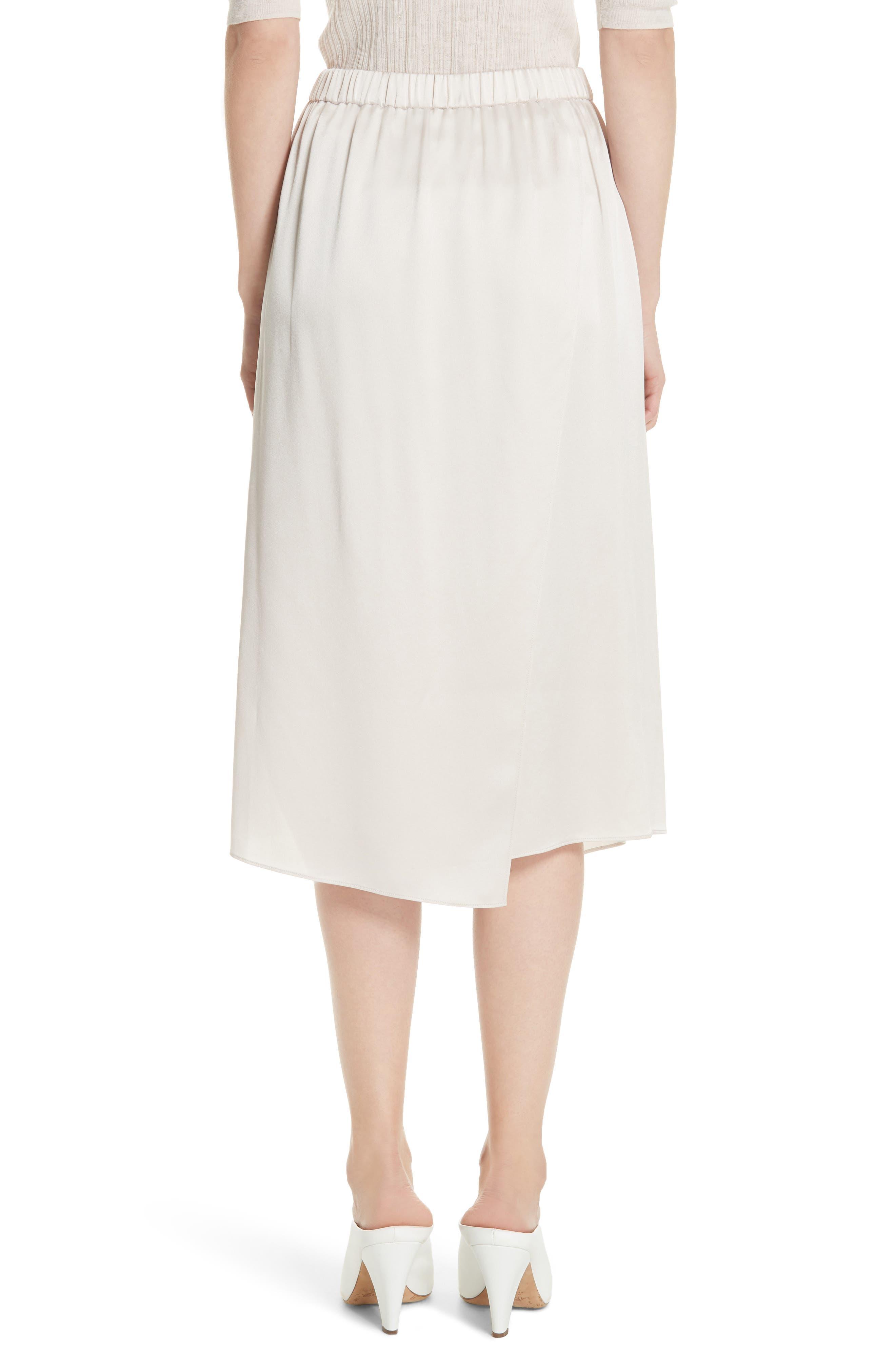 Drape Panel Silk Skirt,                             Alternate thumbnail 2, color,                             292