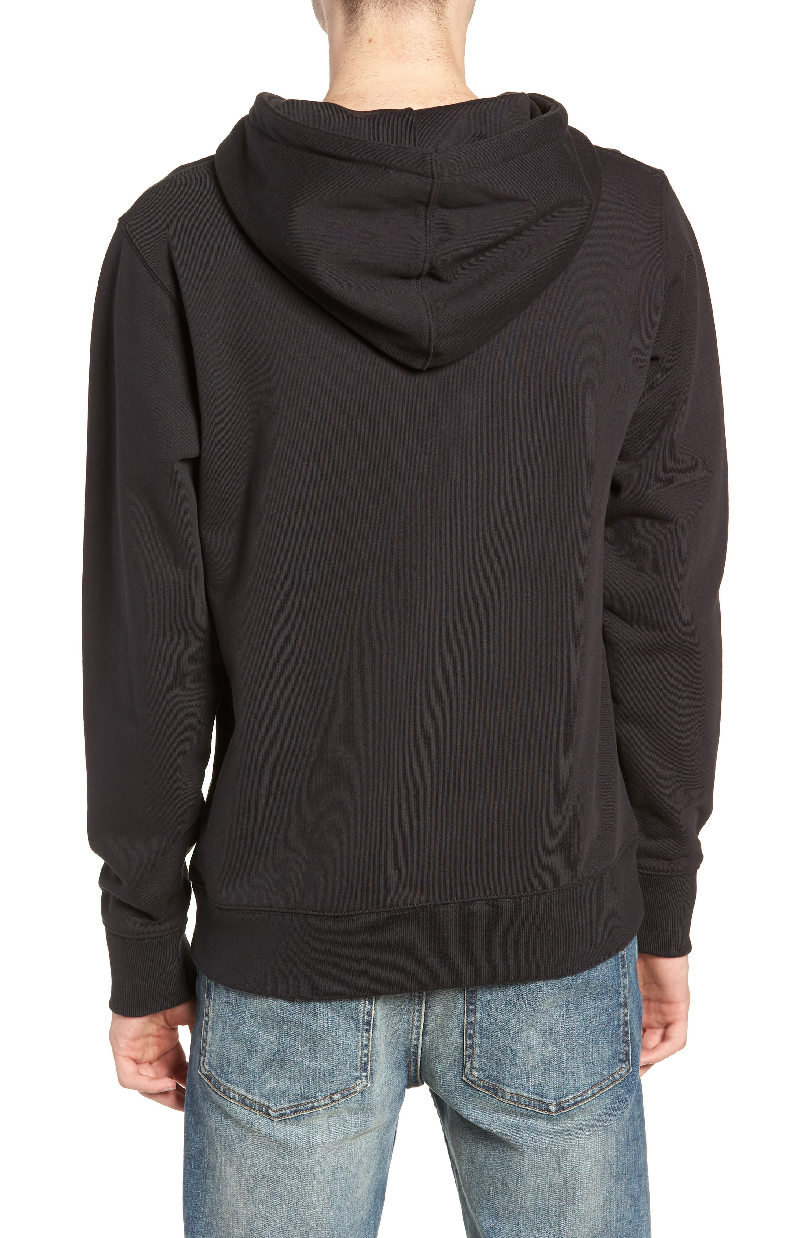 Ditch Embroidered Chest Slash Hooded Sweatshirt,                             Alternate thumbnail 2, color,                             BLACK