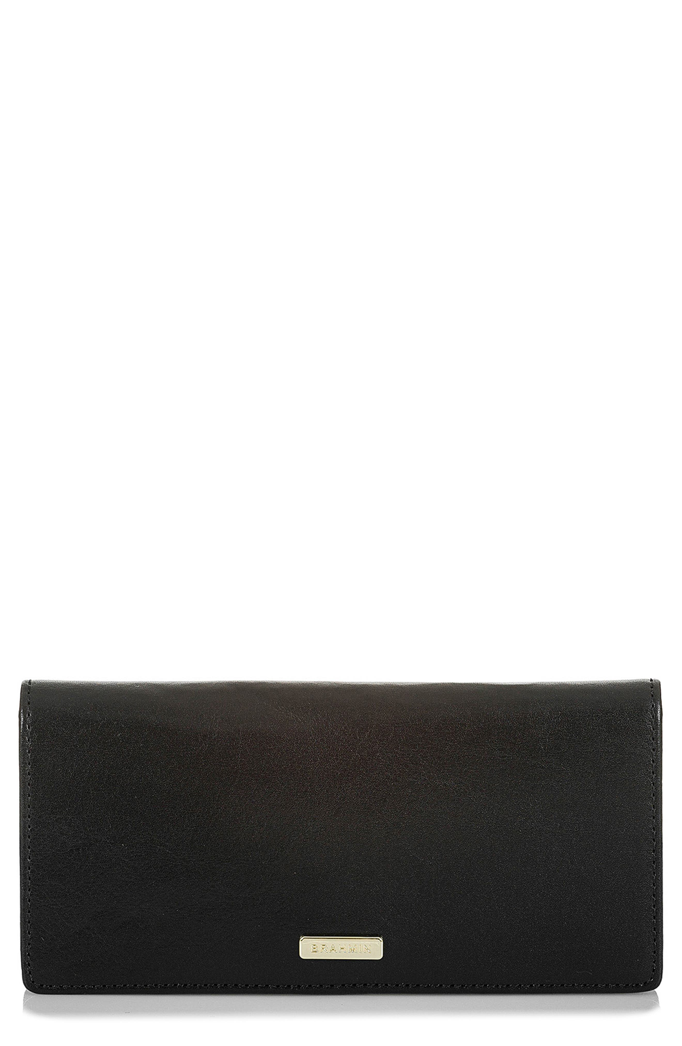Ady Leather Wallet,                         Main,                         color, BLACK