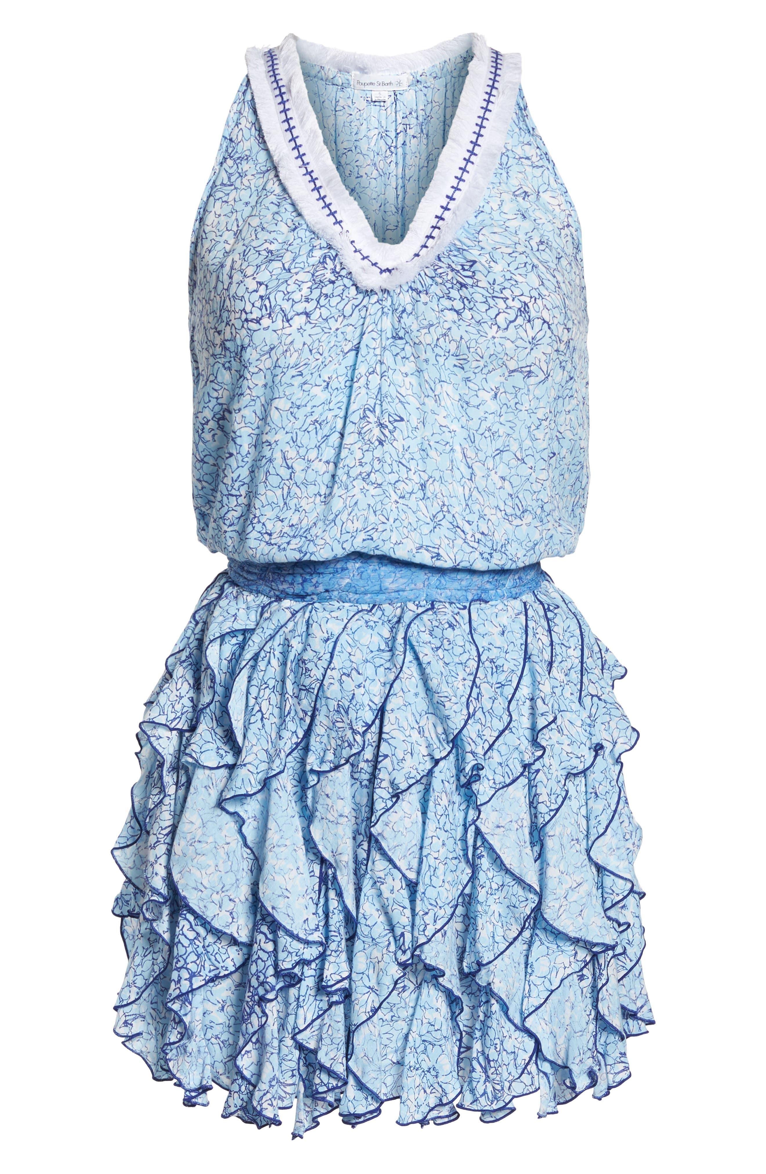Poupette St. Barth Beline Cover-Up Dress,                             Alternate thumbnail 6, color,                             400