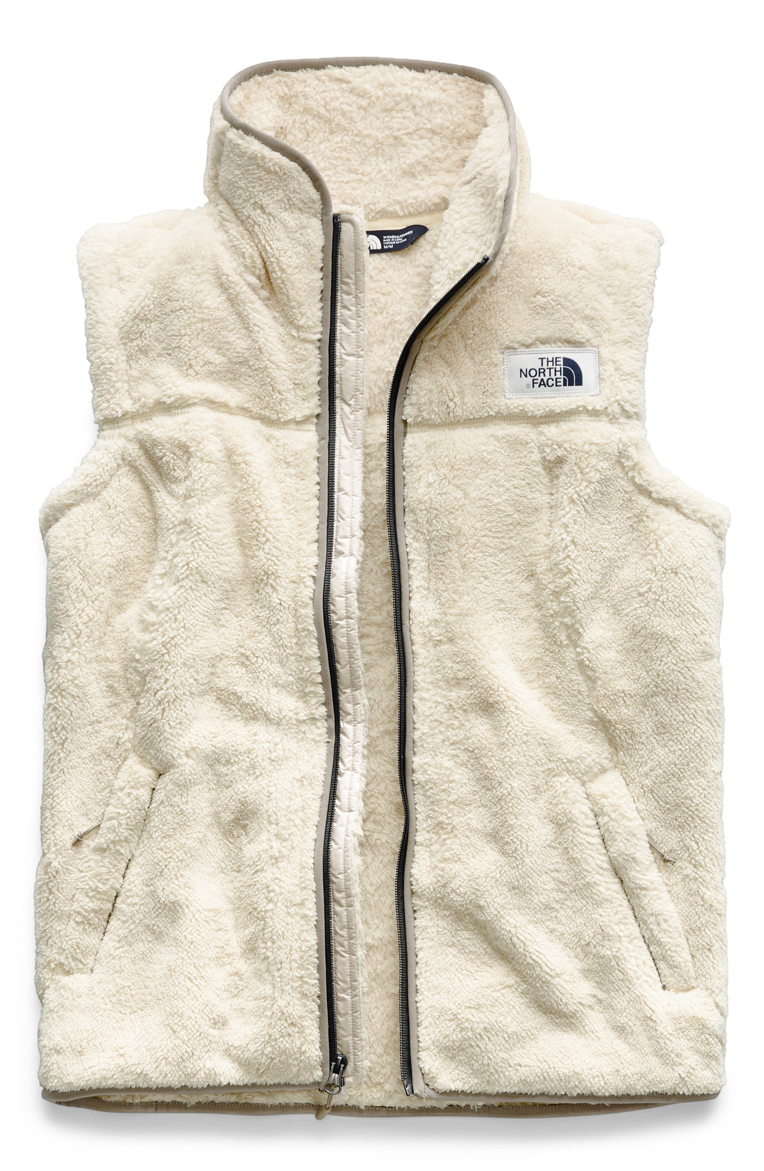 Campshire Fleece Vest,                             Main thumbnail 1, color,                             VINTAGE WHITE/ GREY