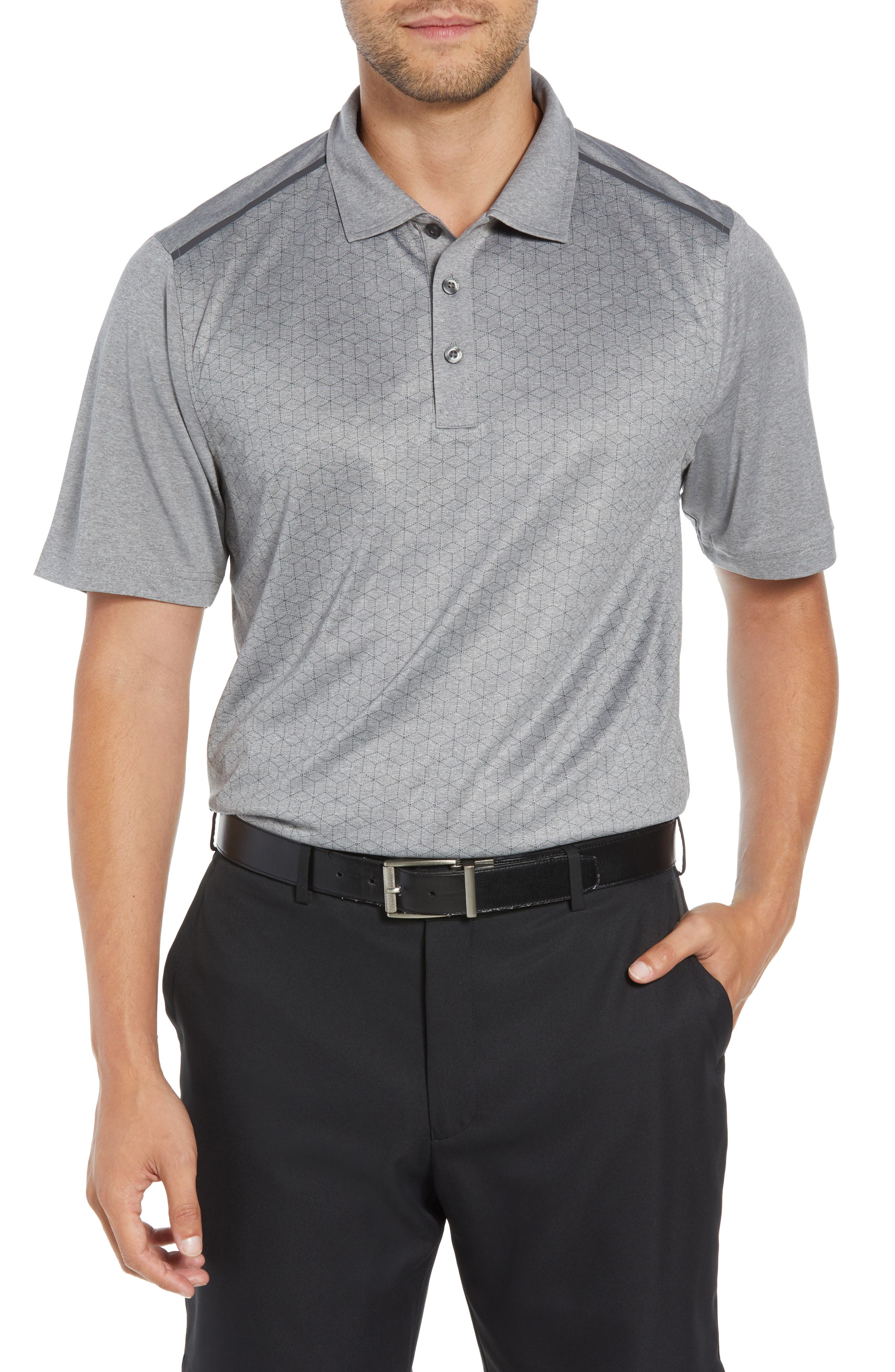 Kyle DryTec Jersey Polo,                         Main,                         color, HEATHER GREY