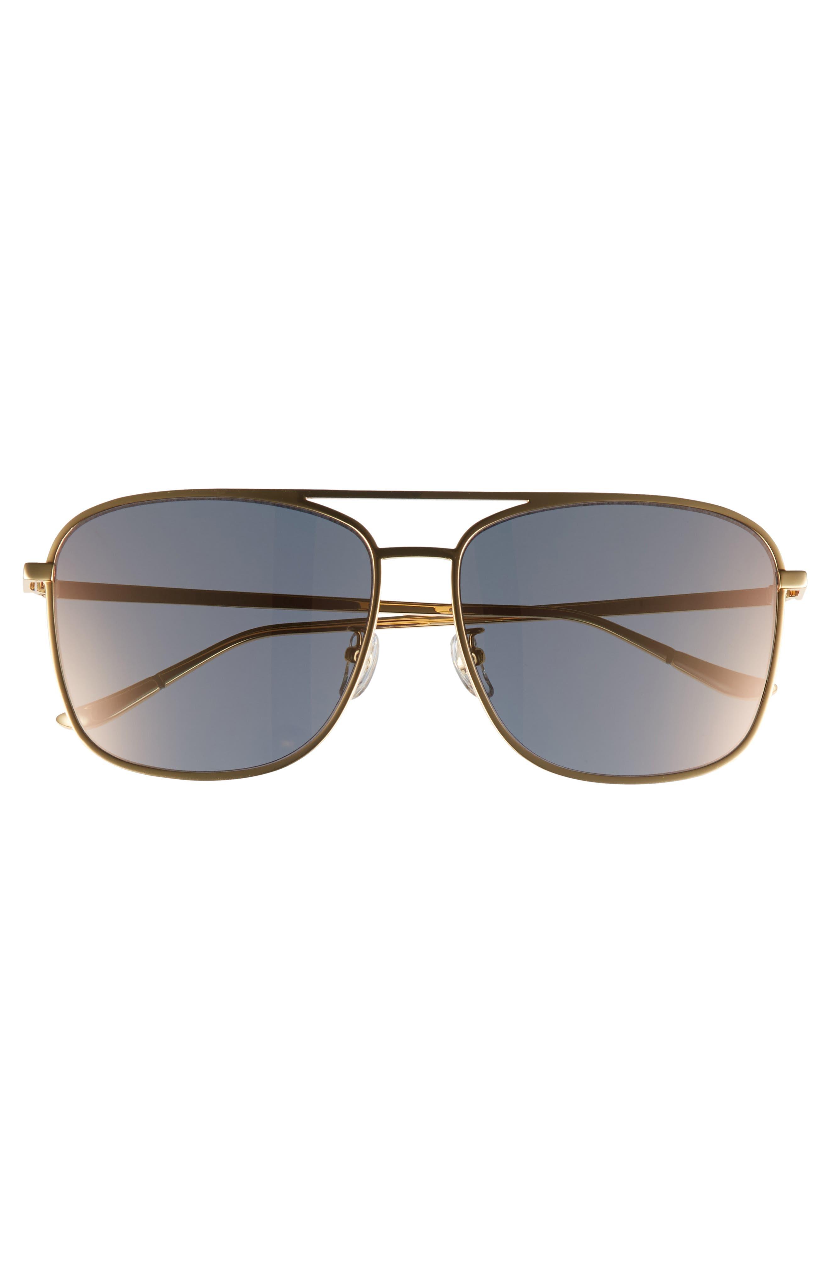 BLANC & ECLARE Geneva 61mm Large Polarized Metal Aviator Sunglasses,                             Alternate thumbnail 3, color,                             710