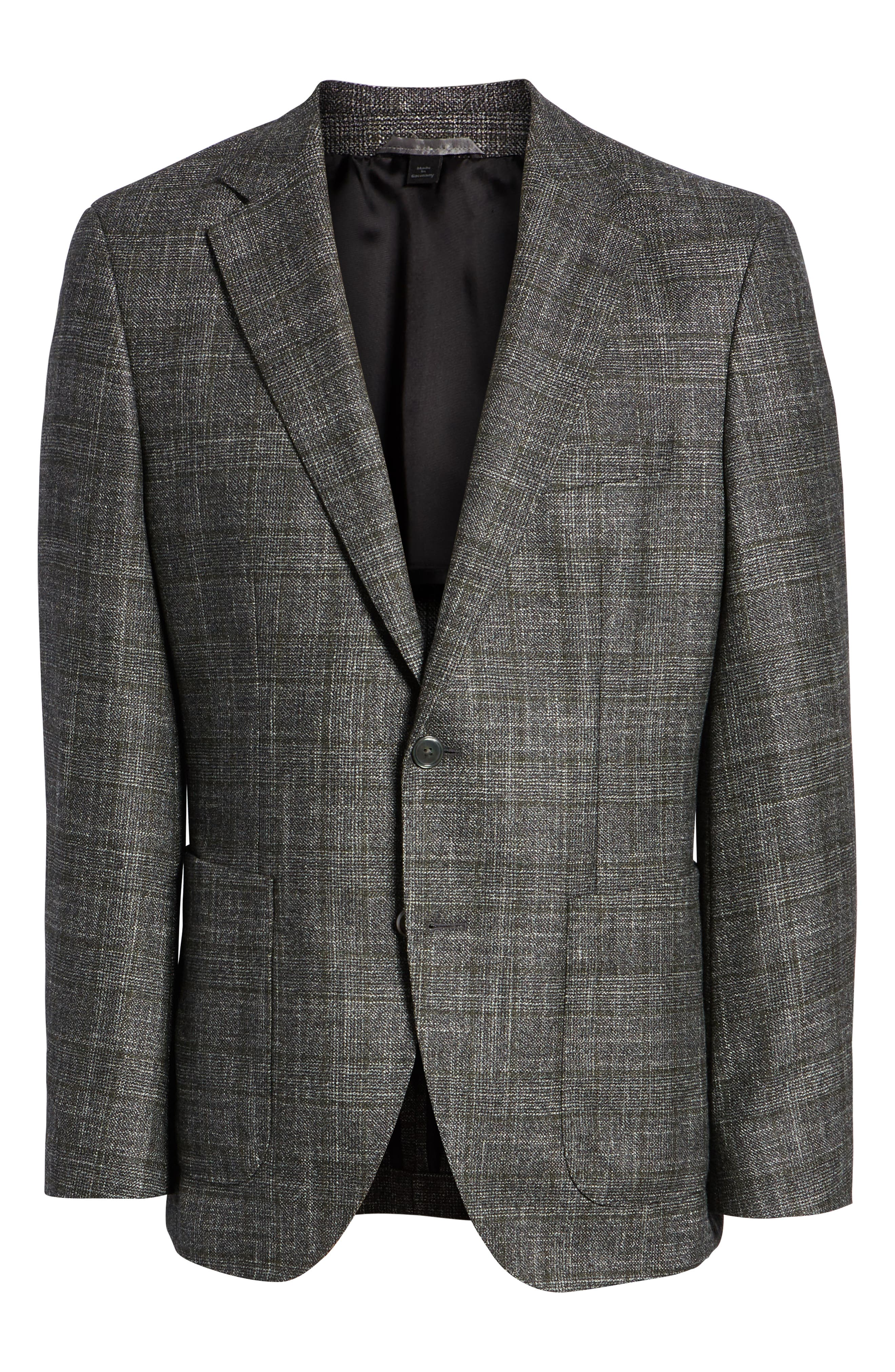 Janson Trim Fit Plaid Wool Blend Sport Coat,                             Alternate thumbnail 5, color,                             061