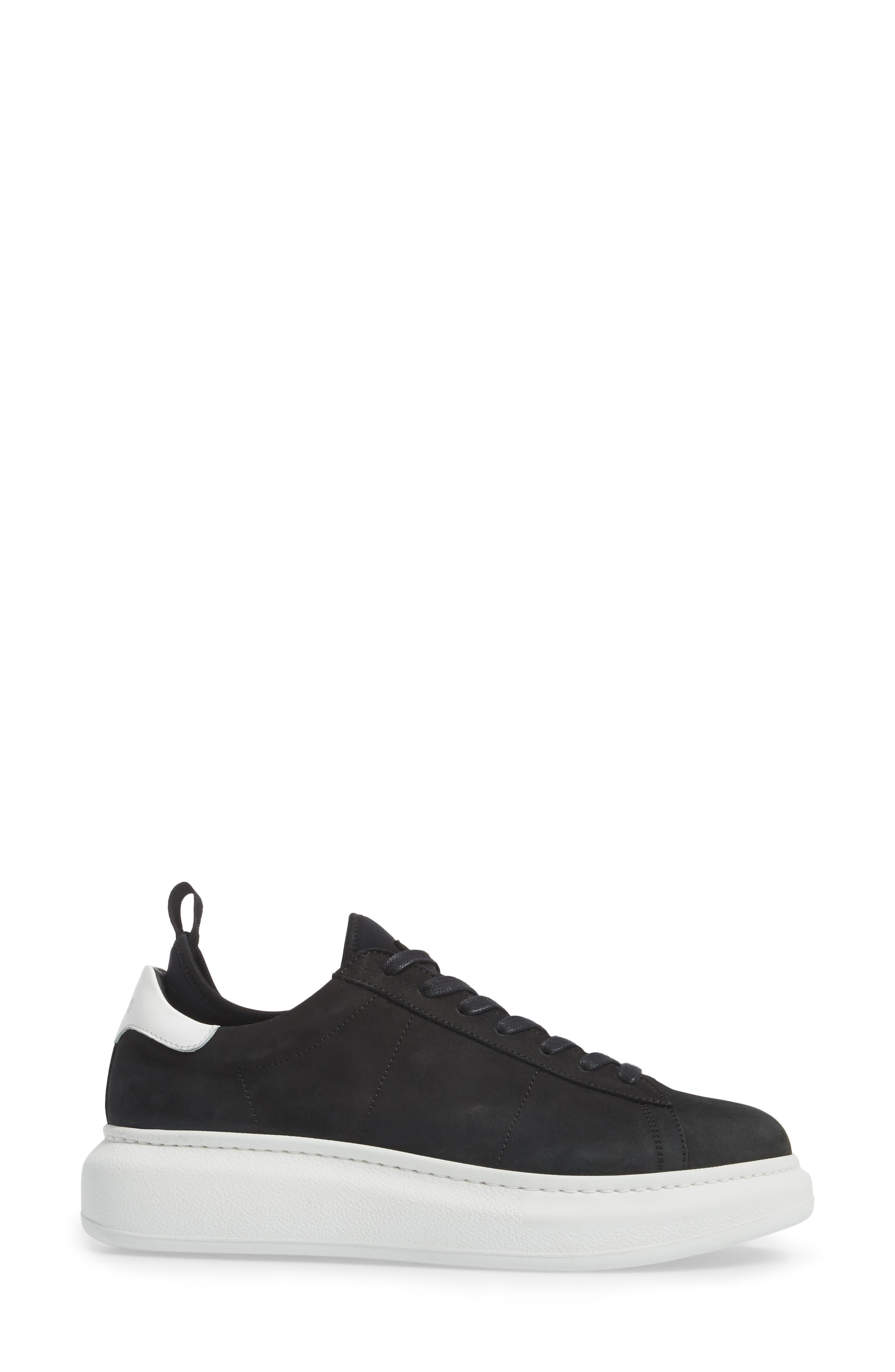 Alta Low Top Sneaker,                             Alternate thumbnail 3, color,                             BLACK NUBUCK LEATHER