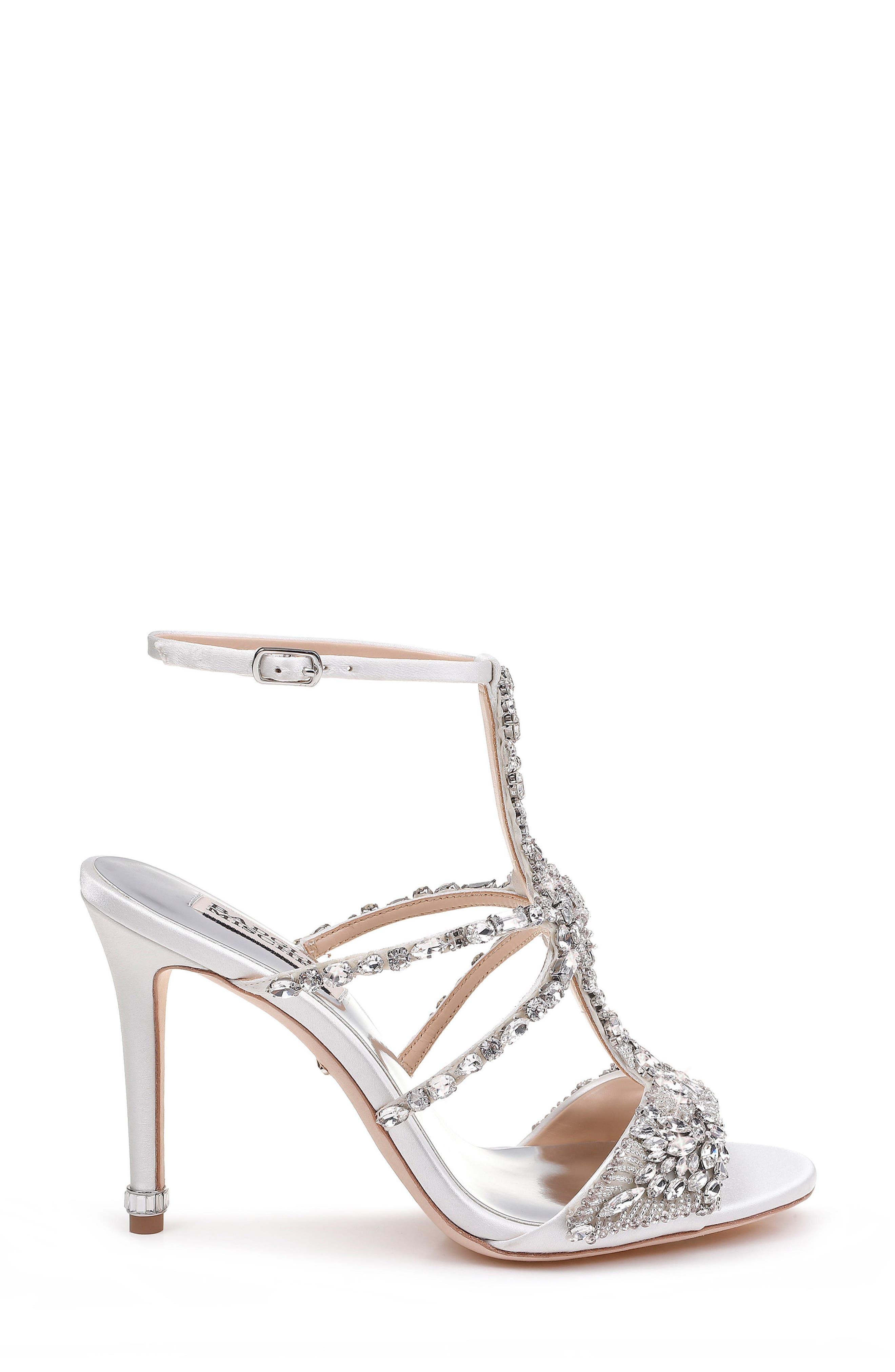 Badgley Mischka Hughes Crystal Embellished Sandal,                             Alternate thumbnail 3, color,                             142