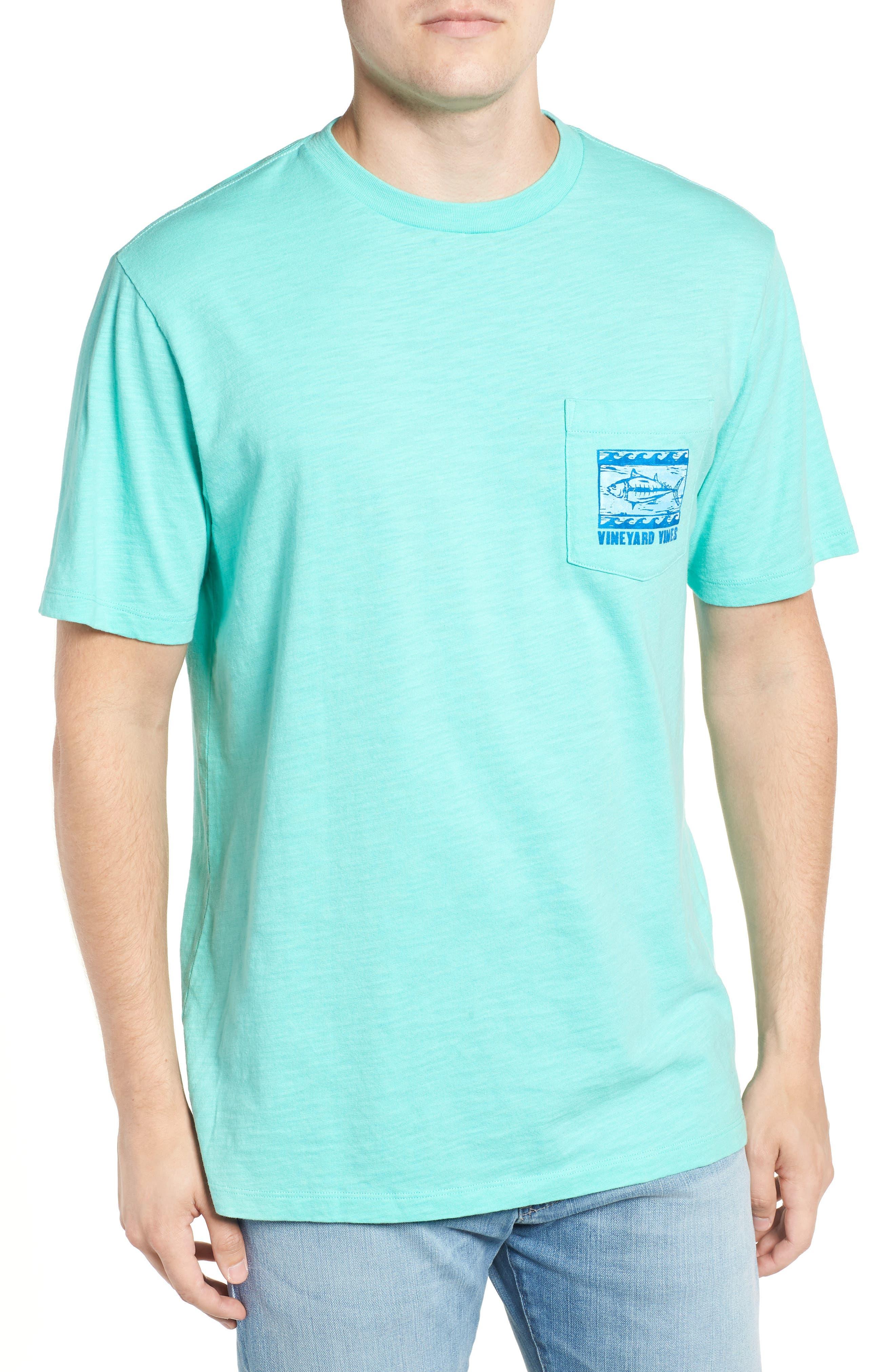 Woodblock Tuna T-Shirt,                         Main,                         color, 400