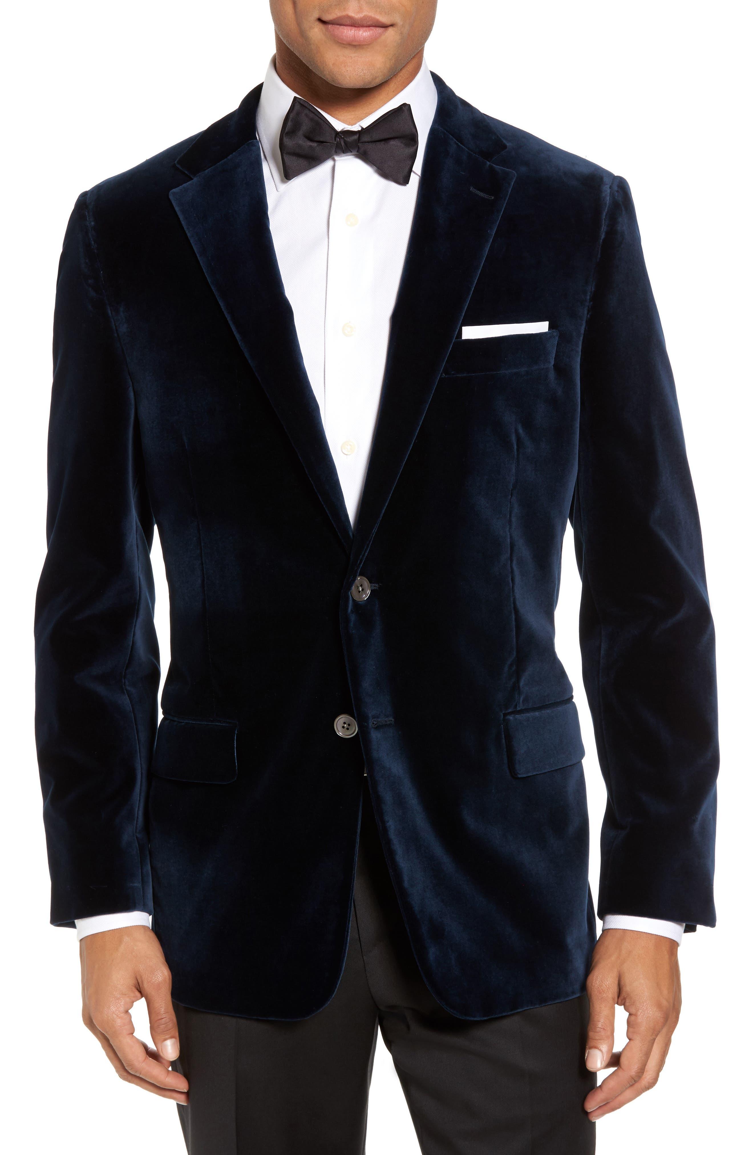 Classic B Fit Stretch Velvet Dinner Jacket,                         Main,                         color,