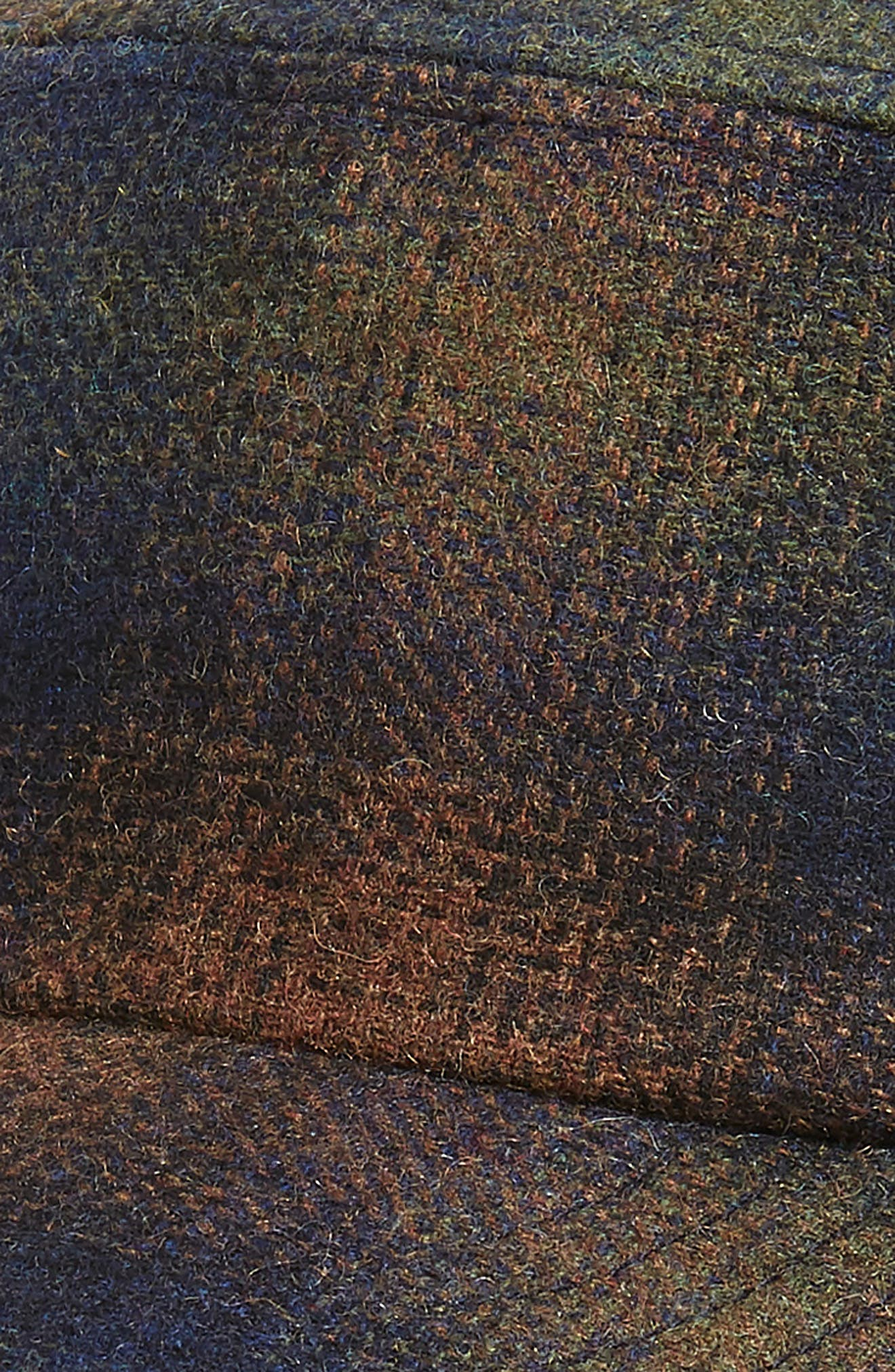 Bernick Plaid Wool Blend Baseball Cap,                             Alternate thumbnail 3, color,                             OLIVE PLAID