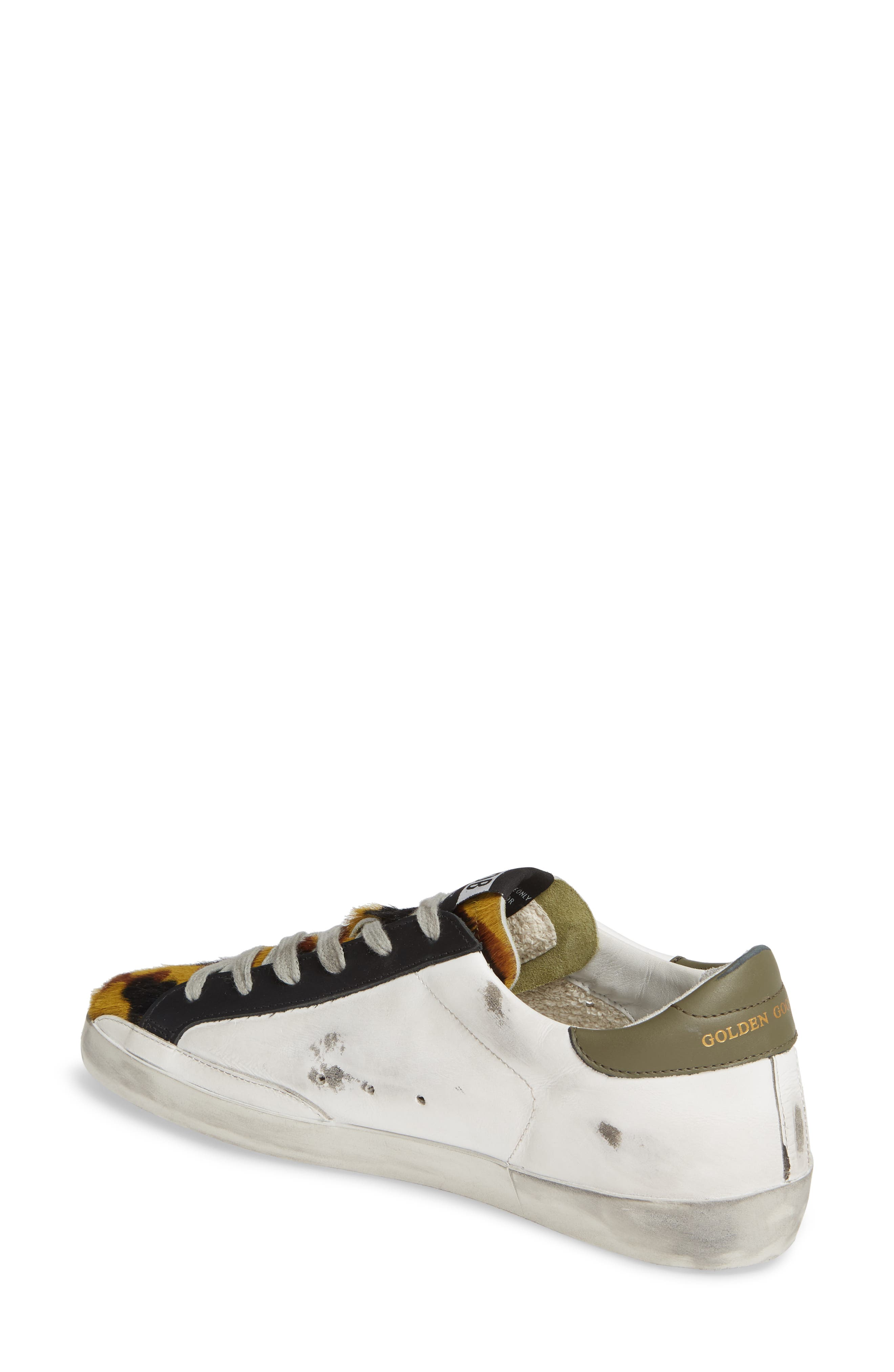 GOLDEN GOOSE,                             Superstar Genuine Calf Hair Sneaker,                             Alternate thumbnail 2, color,                             WHITE/ CAMO